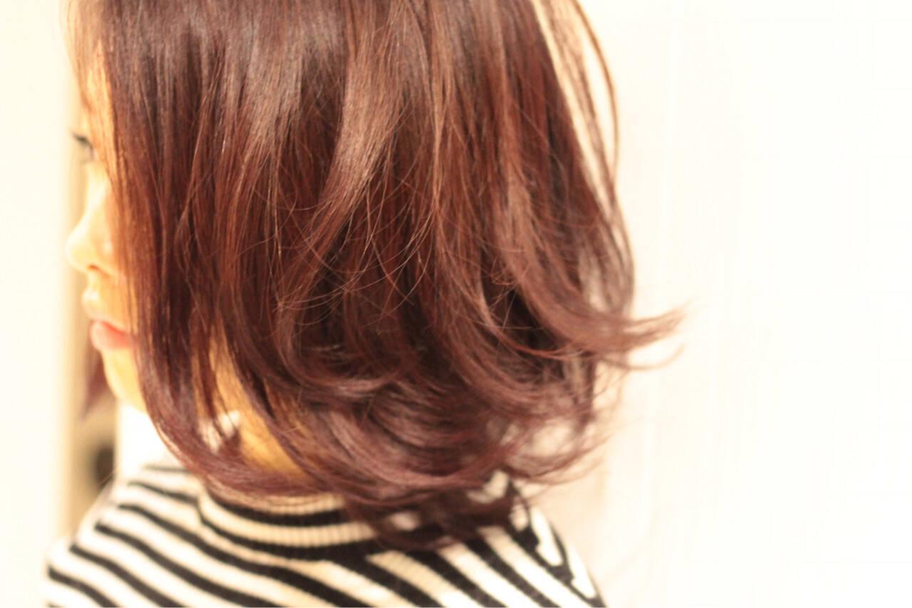 ショート モード レッド マルサラヘアスタイルや髪型の写真・画像