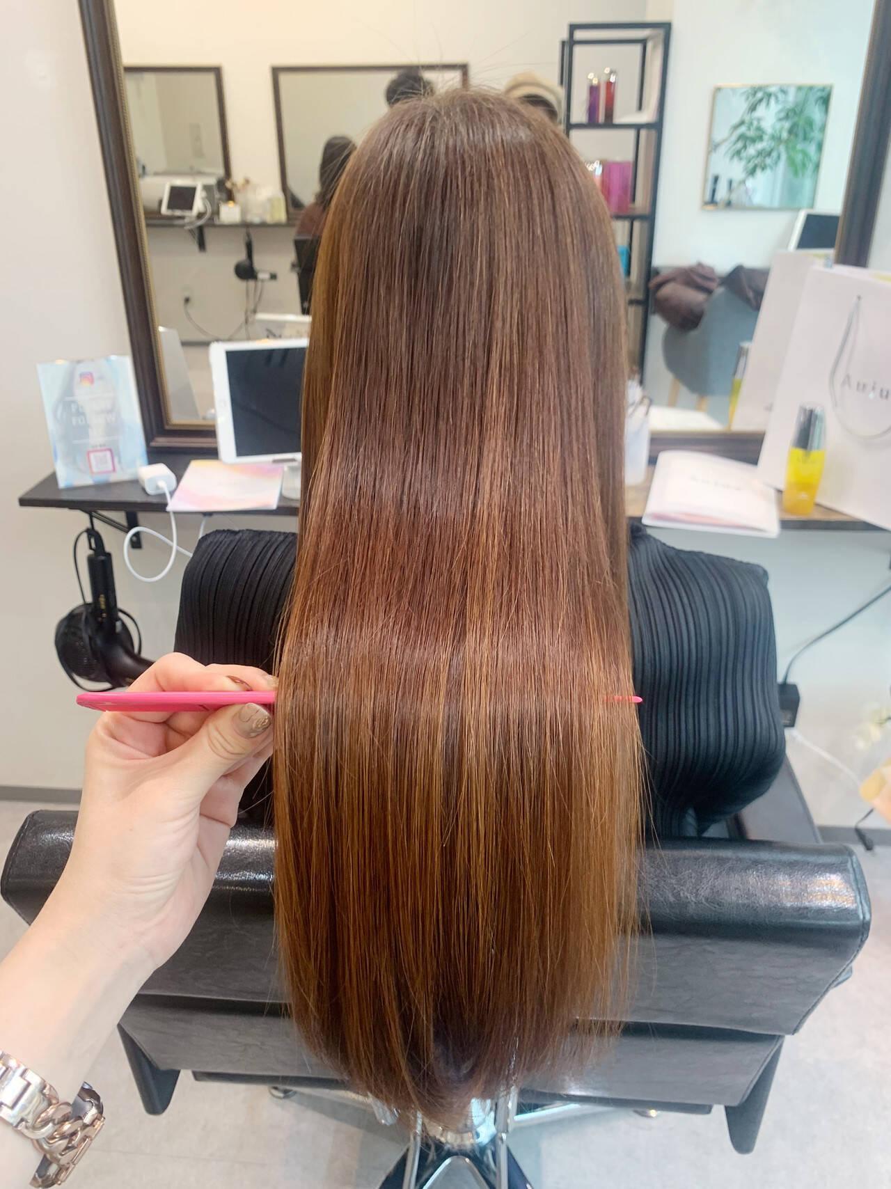 ロングヘア ナチュラル 髪質改善 大人かわいいヘアスタイルや髪型の写真・画像