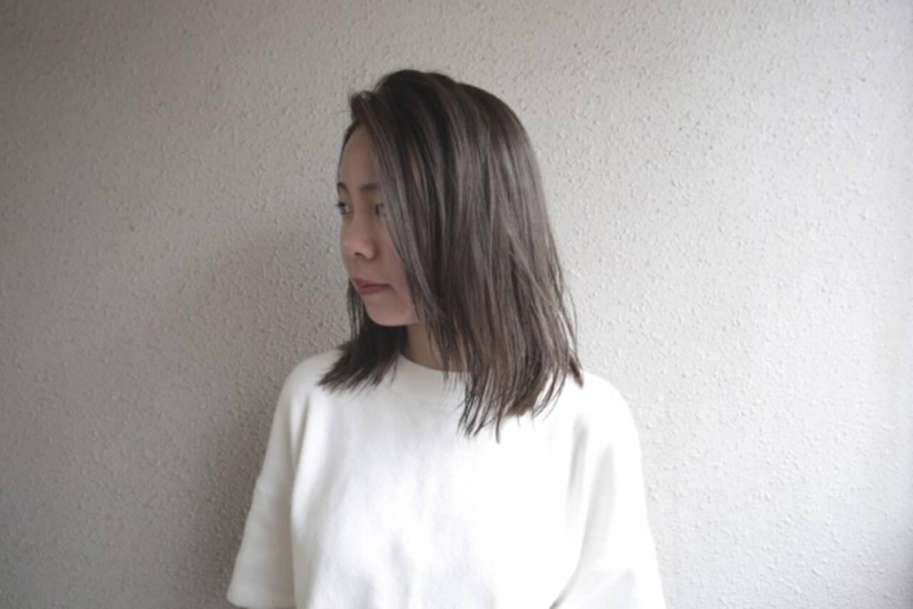 ふんわり ダブルカラー ナチュラルヘアスタイルや髪型の写真・画像