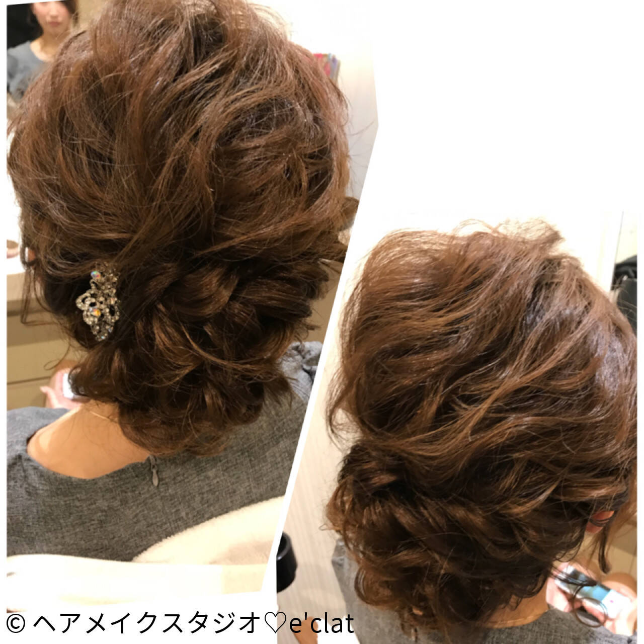 ガーリー ヘアアレンジ ルーズ 大人女子ヘアスタイルや髪型の写真・画像