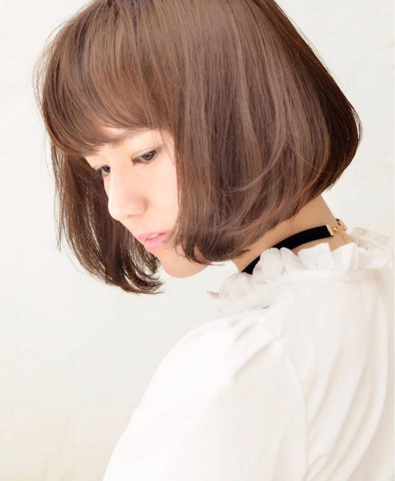 アッシュ ショート 外国人風 ボブヘアスタイルや髪型の写真・画像