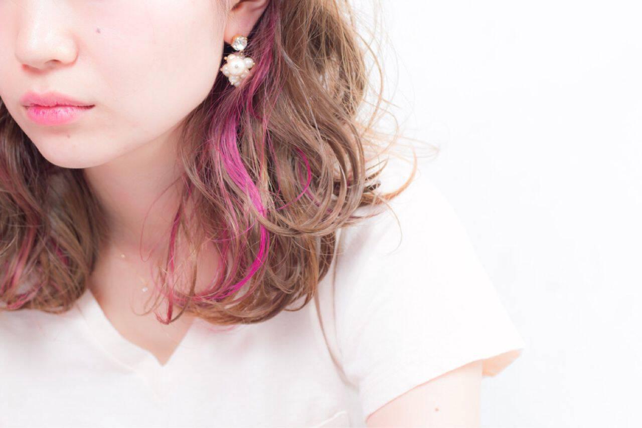 ウェットヘア ゆるふわ ナチュラル レッドヘアスタイルや髪型の写真・画像