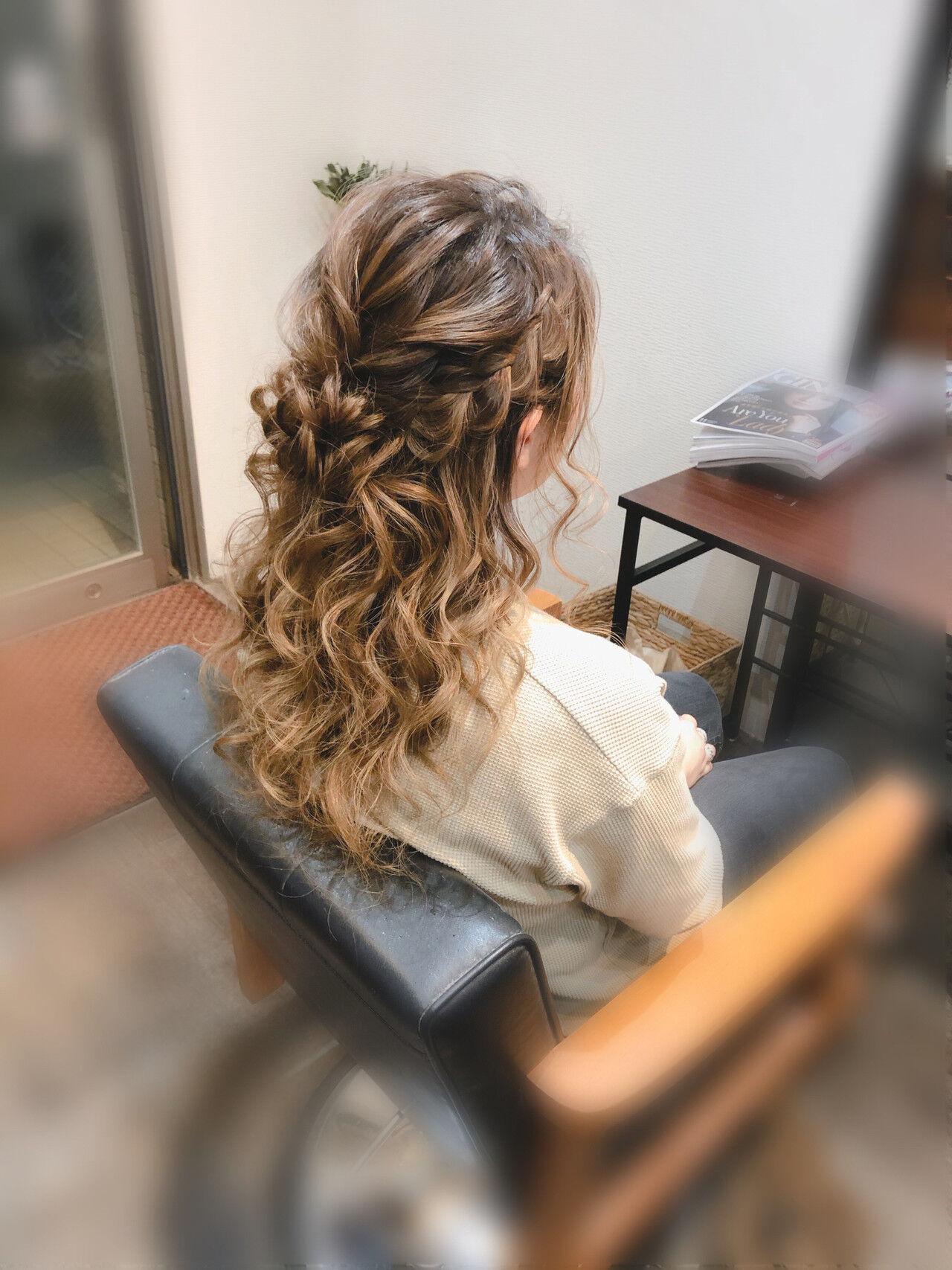 編み込みヘア 結婚式 編み込み ヘアセットヘアスタイルや髪型の写真・画像