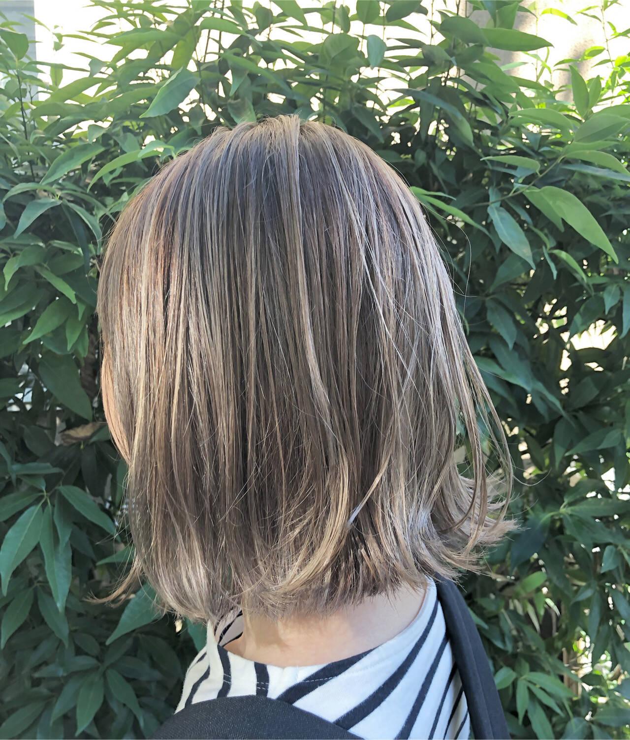 グラデーションカラー ユニコーンカラー ボブ インナーカラーヘアスタイルや髪型の写真・画像