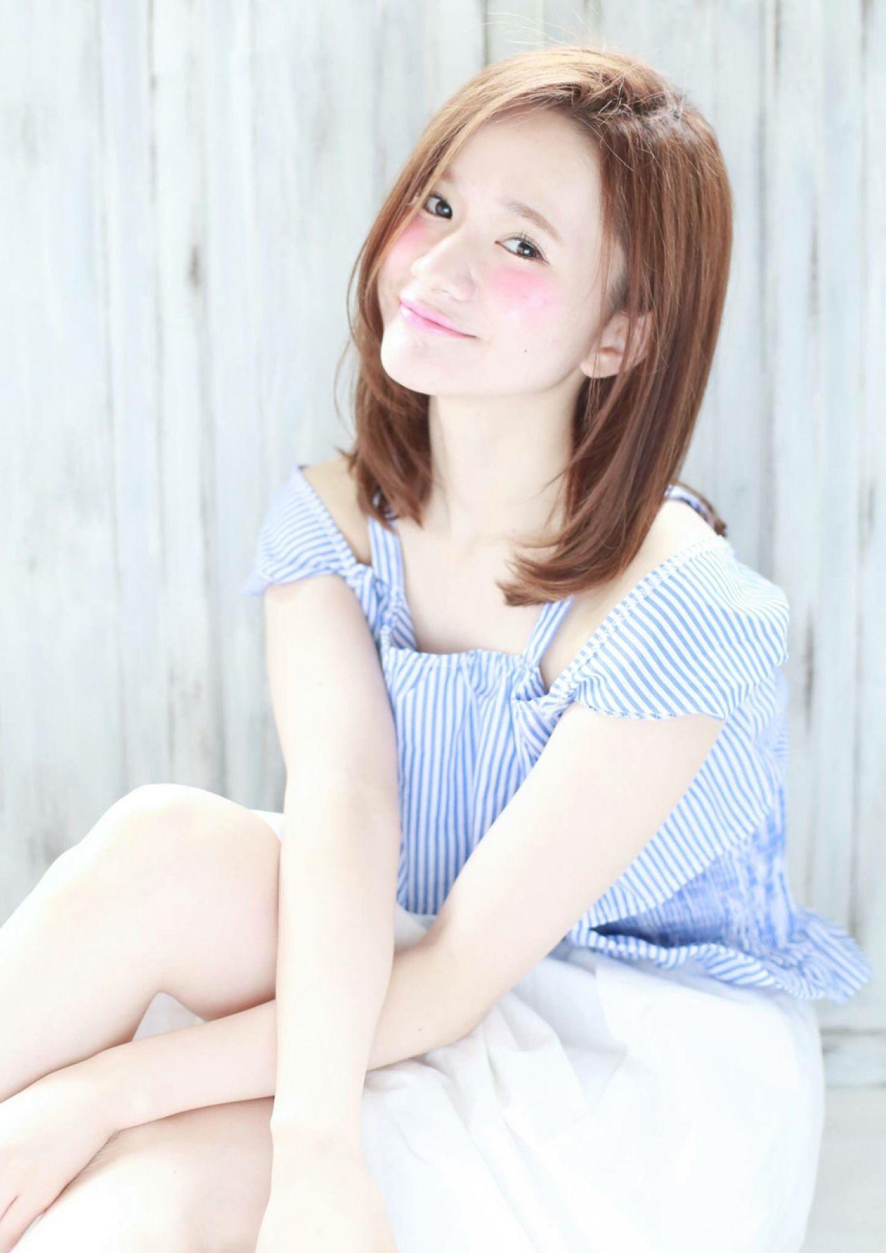 モテ髪 大人かわいい ミディアム コンサバヘアスタイルや髪型の写真・画像