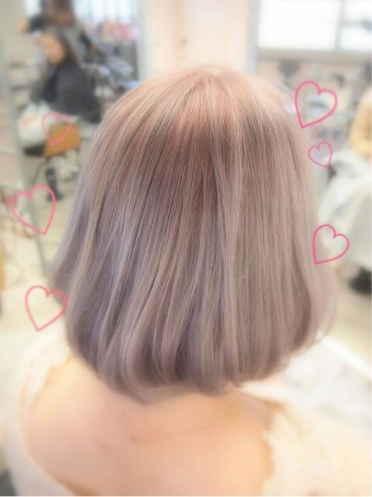 モード ガーリー ボブ ナチュラルヘアスタイルや髪型の写真・画像