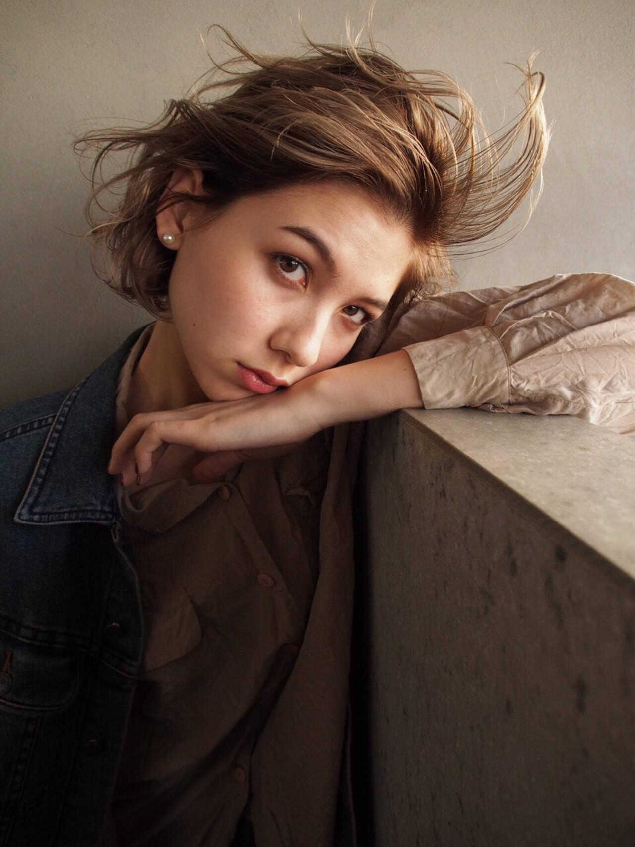 色気 ボブ ショートボブ デートヘアスタイルや髪型の写真・画像