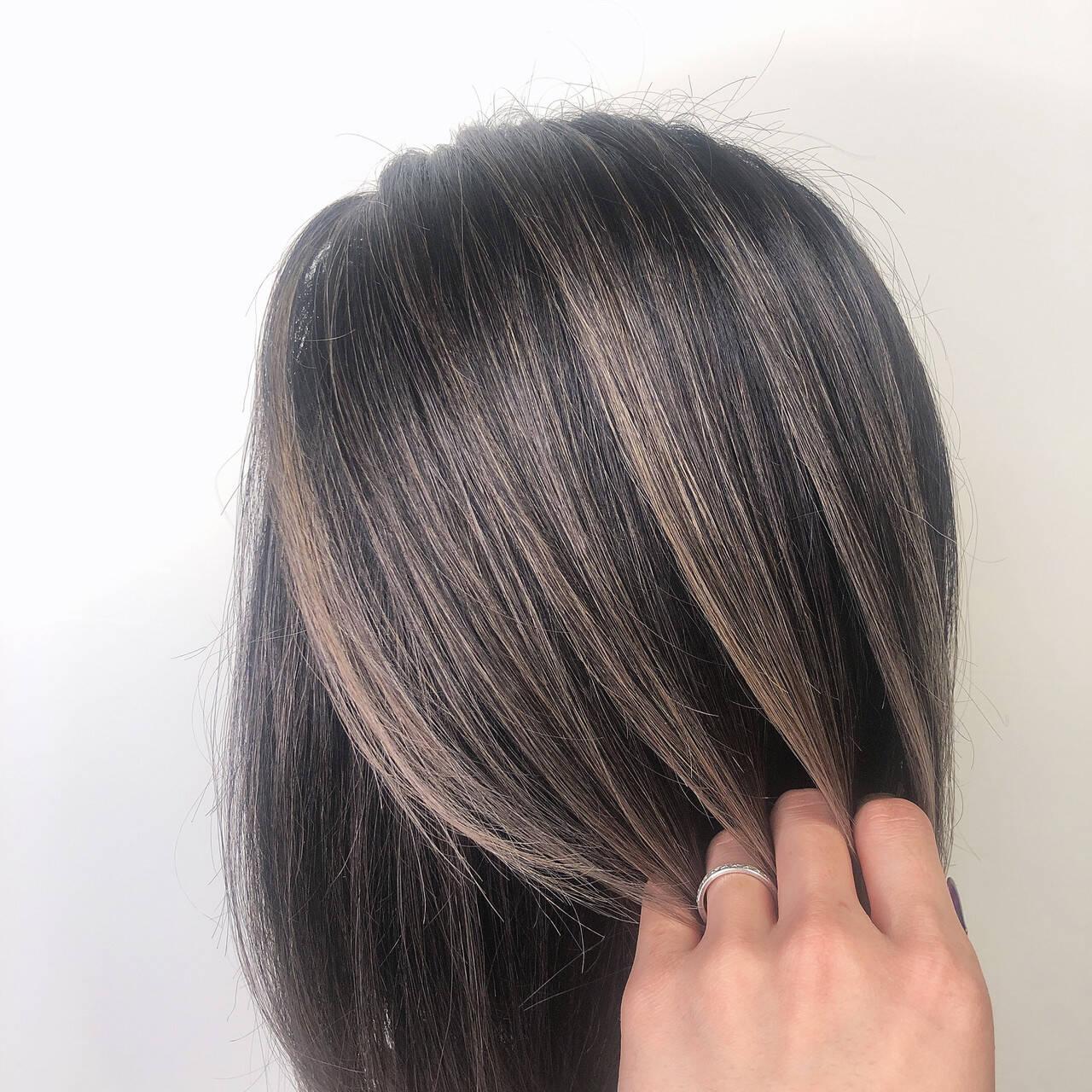 外国人風カラー ミディアム ナチュラル 外国人風ヘアスタイルや髪型の写真・画像