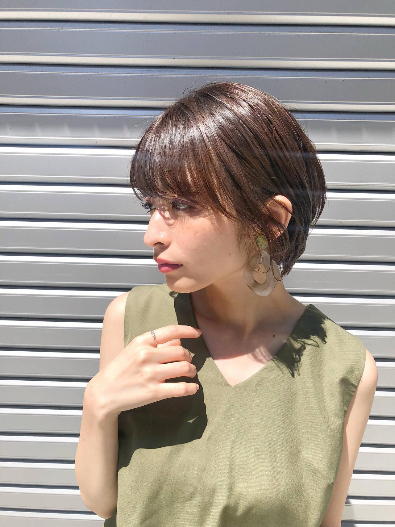 ショートボブ ハンサムショート ショート ヘアアレンジヘアスタイルや髪型の写真・画像