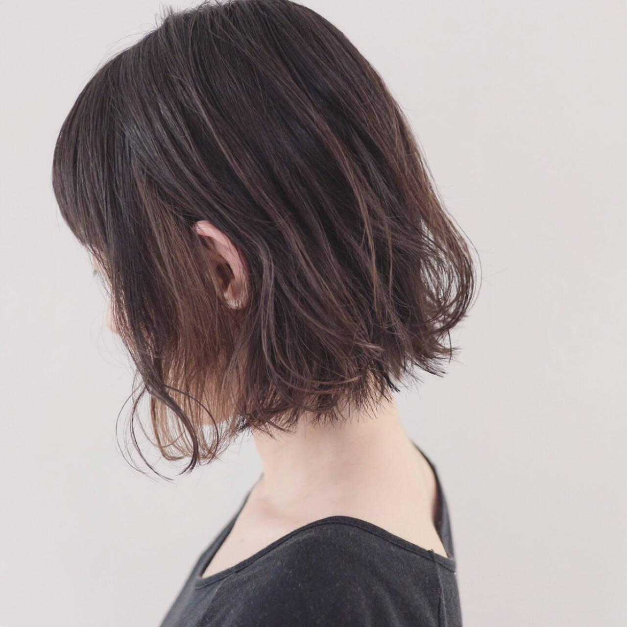 外国人風 インナーカラー ボブ 秋ヘアスタイルや髪型の写真・画像