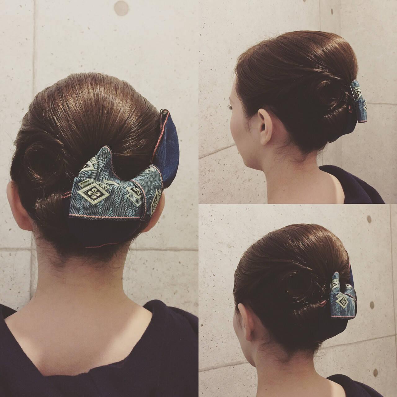 モード ヘアアレンジ ボブ お祭りヘアスタイルや髪型の写真・画像