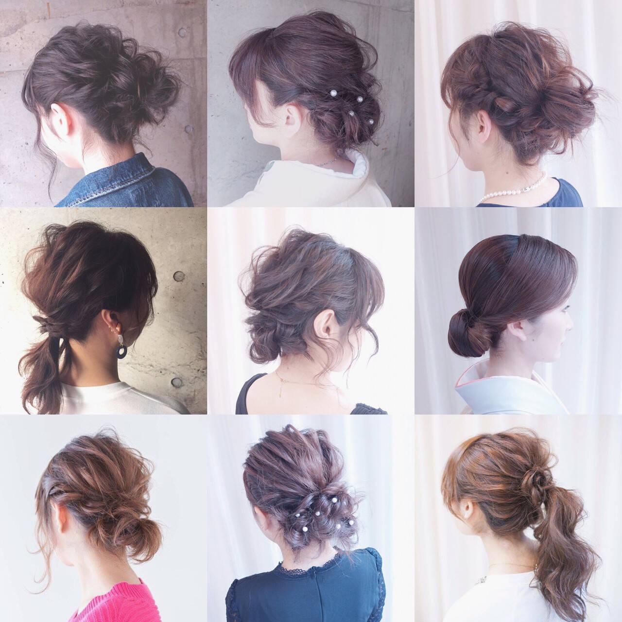 ショート 編み込み ミディアム 簡単ヘアアレンジヘアスタイルや髪型の写真・画像