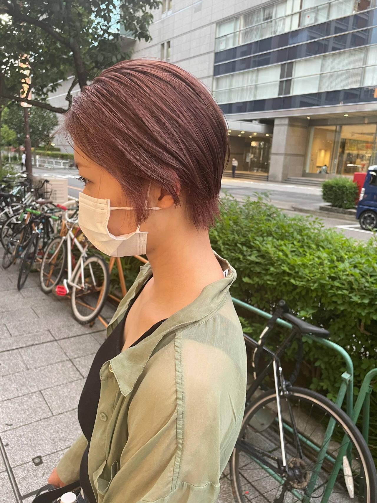 ハイトーンカラー ミニボブ ショートボブ ナチュラルヘアスタイルや髪型の写真・画像