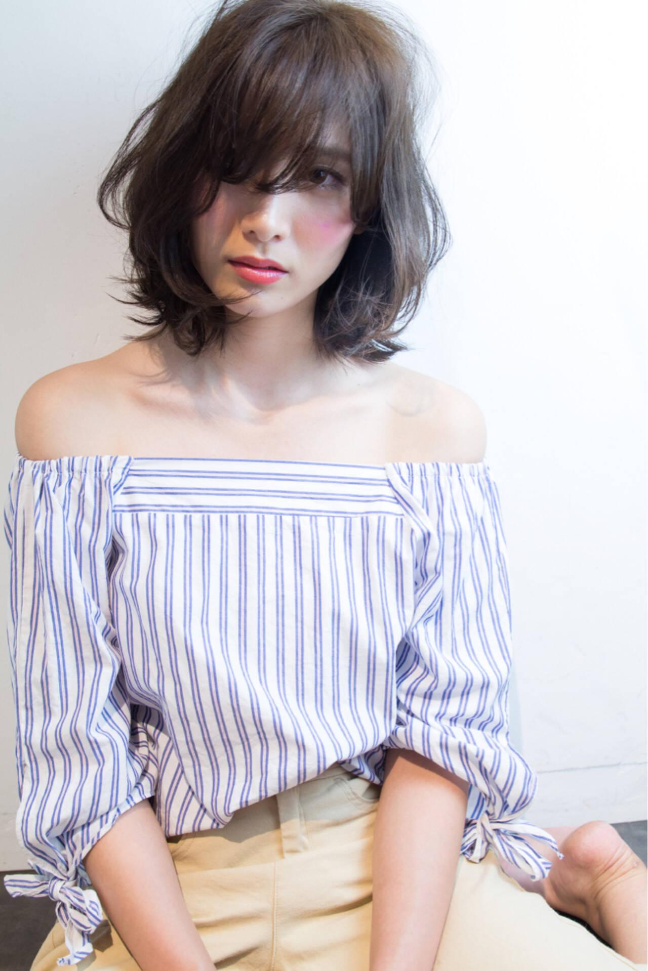かわいい フェミニン リラックス ボブヘアスタイルや髪型の写真・画像