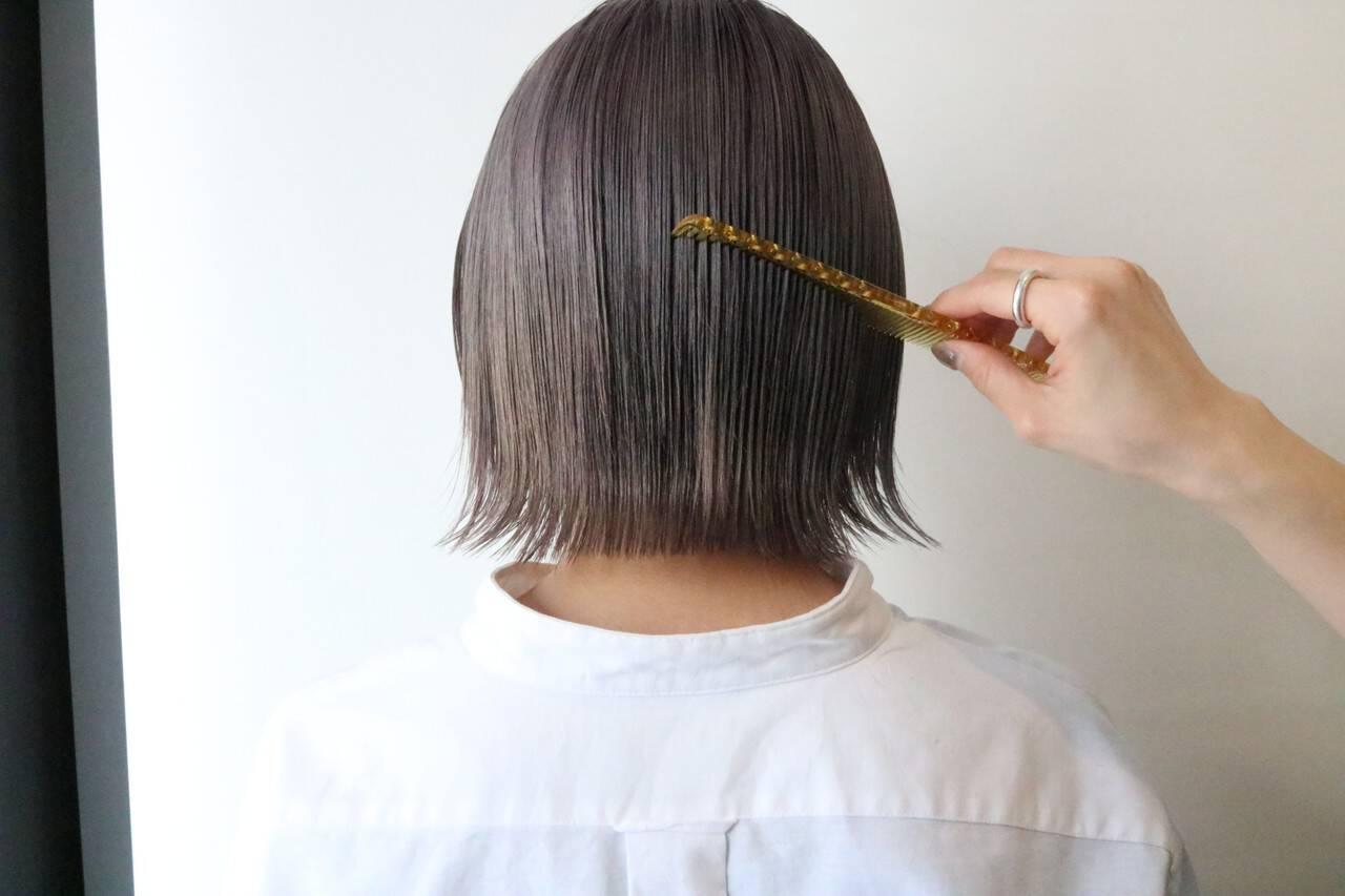 小顔ショート 外はね お洒落 大人可愛いヘアスタイルや髪型の写真・画像