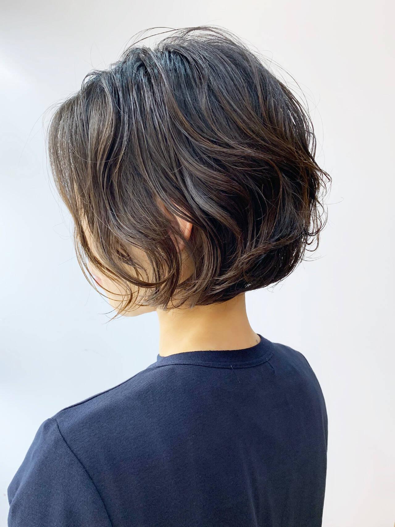 ボブ パーマ  パーマヘアスタイルや髪型の写真・画像