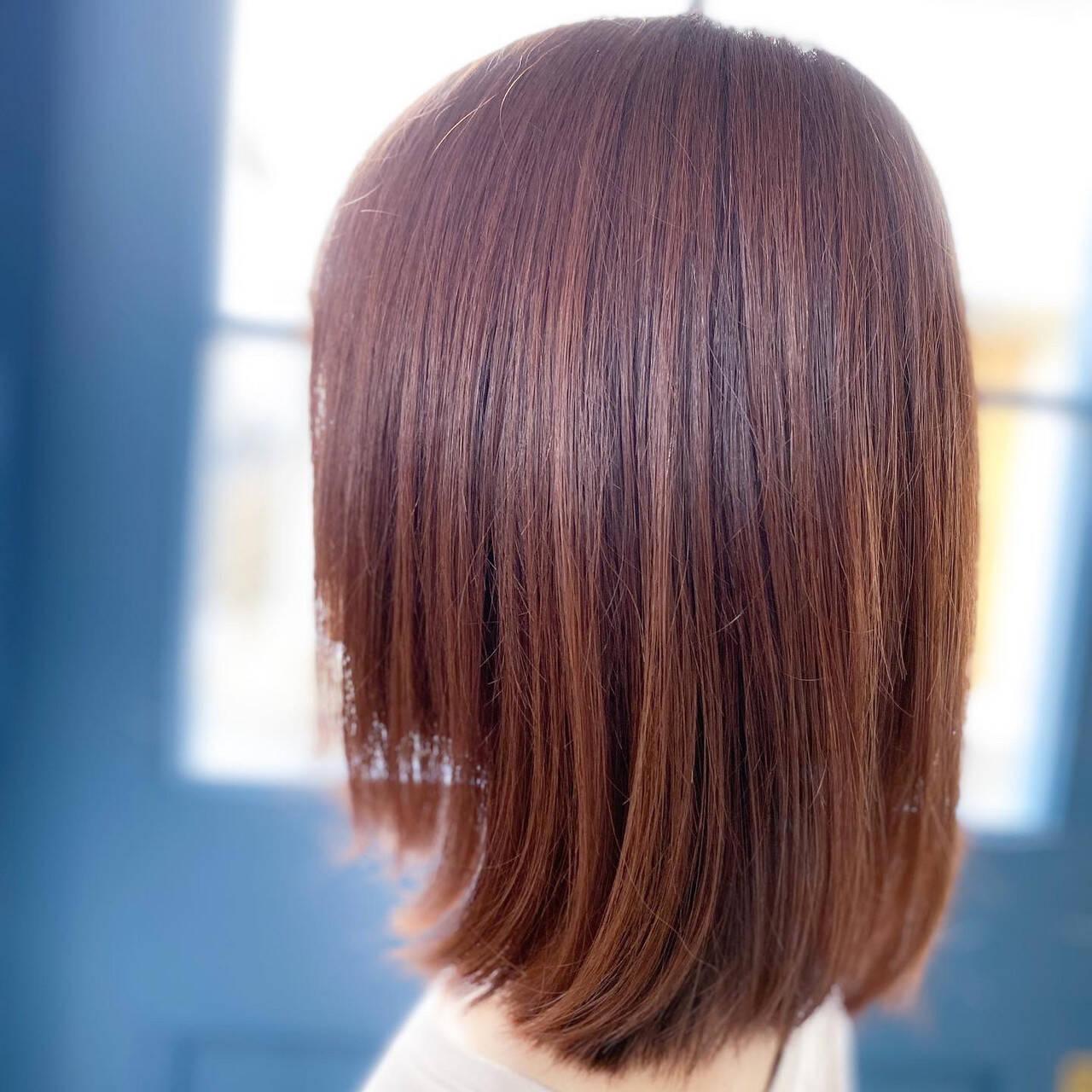 ピンク ピンクベージュ ナチュラル ピンクアッシュヘアスタイルや髪型の写真・画像