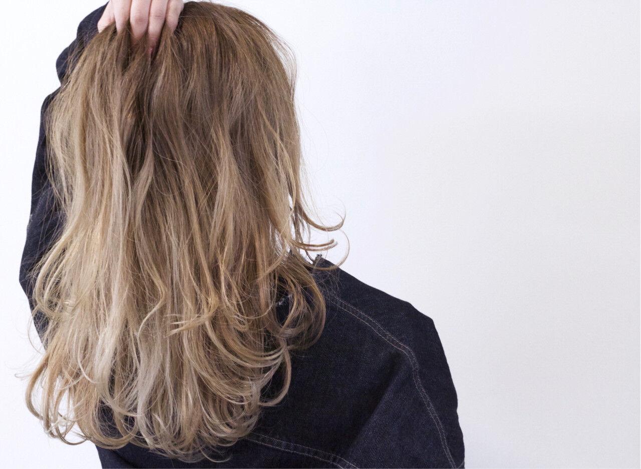 ハイトーン バレイヤージュ ブリーチ ストリートヘアスタイルや髪型の写真・画像