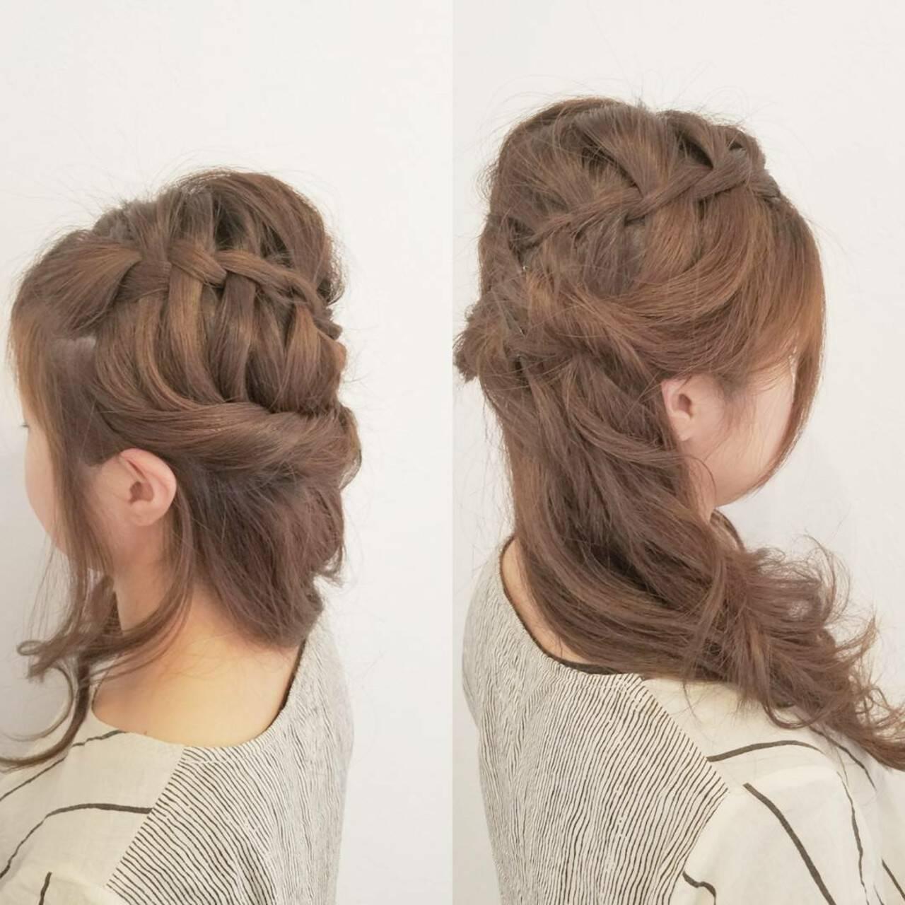 ヘアアレンジ デート ロング 女子会ヘアスタイルや髪型の写真・画像