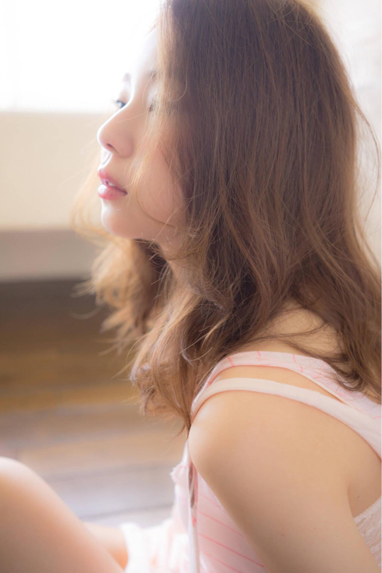 外国人風 ゆるふわ ピュア フェミニンヘアスタイルや髪型の写真・画像