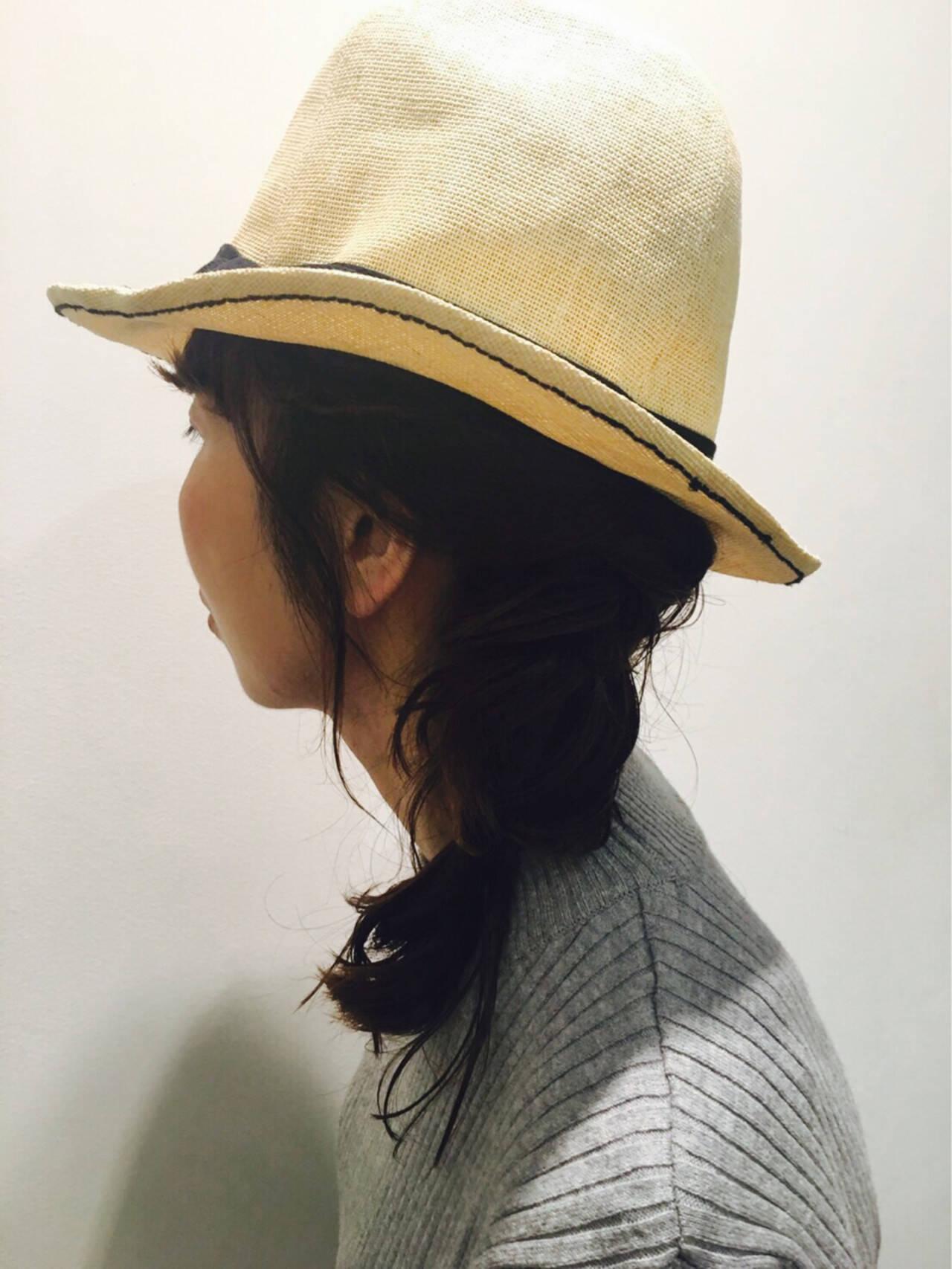 簡単ヘアアレンジ ミディアム ヘアアレンジ 大人女子ヘアスタイルや髪型の写真・画像