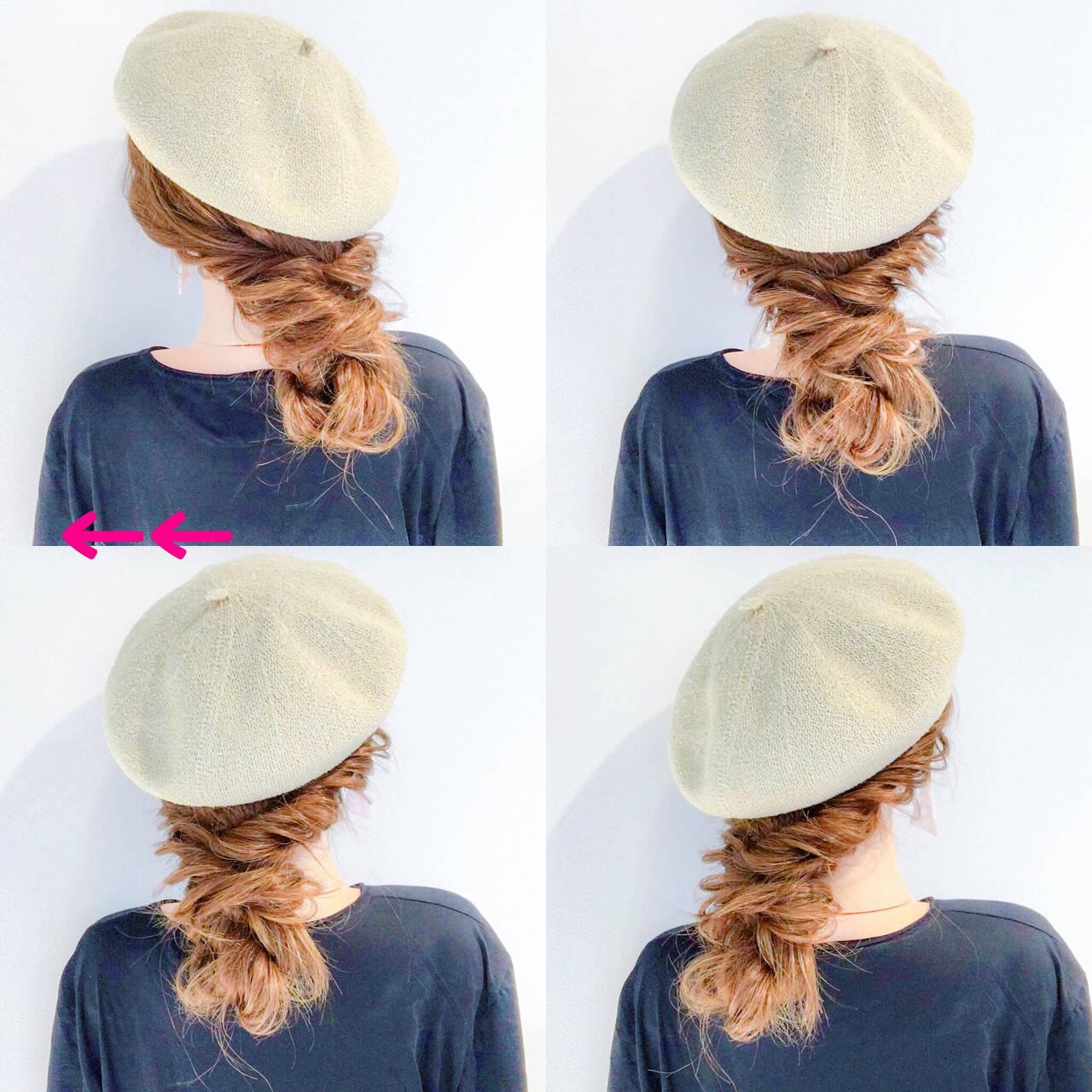 ヘアアレンジ 簡単ヘアアレンジ フェミニン アウトドアヘアスタイルや髪型の写真・画像