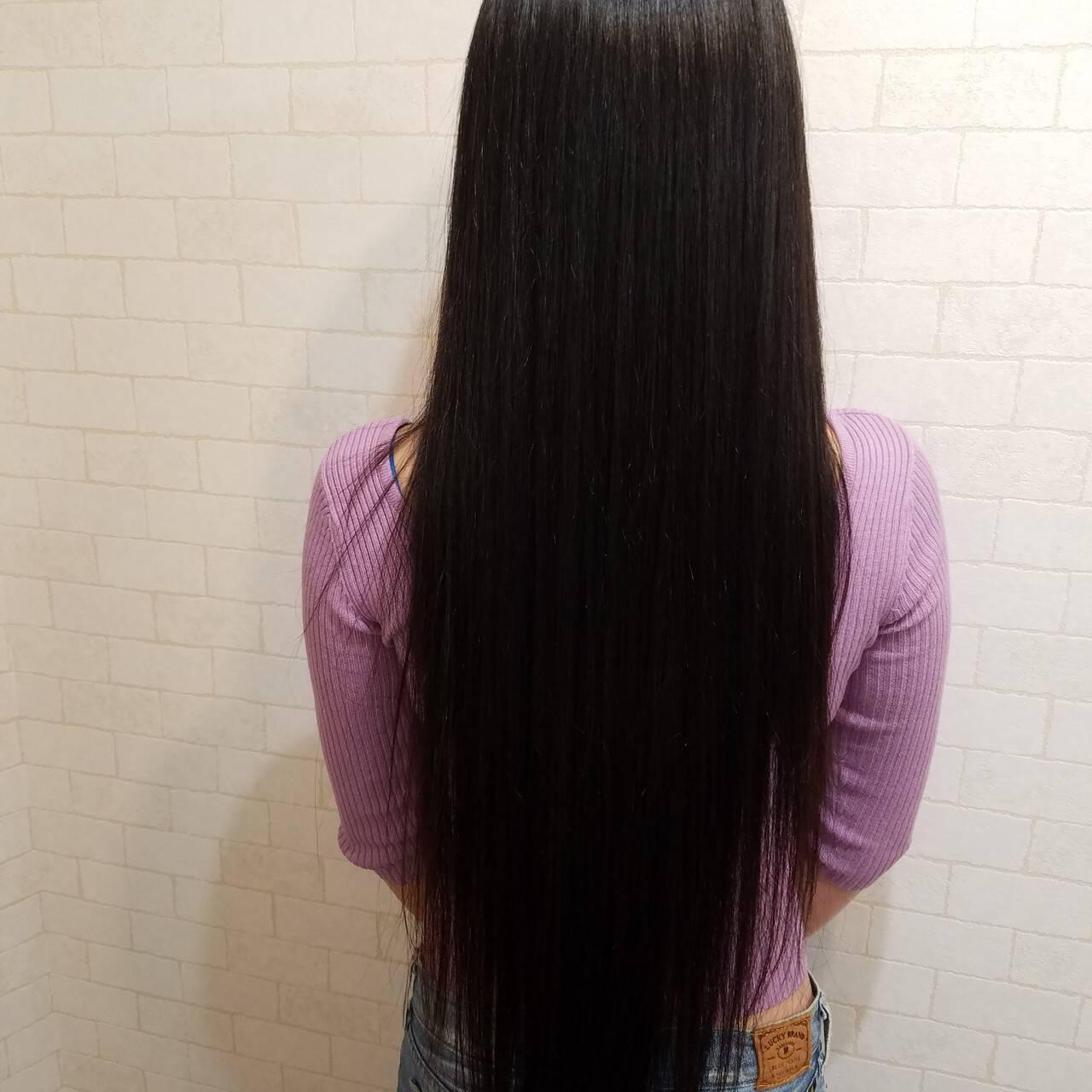 エレガント 久屋大通 ロング ワンカールパーマヘアスタイルや髪型の写真・画像