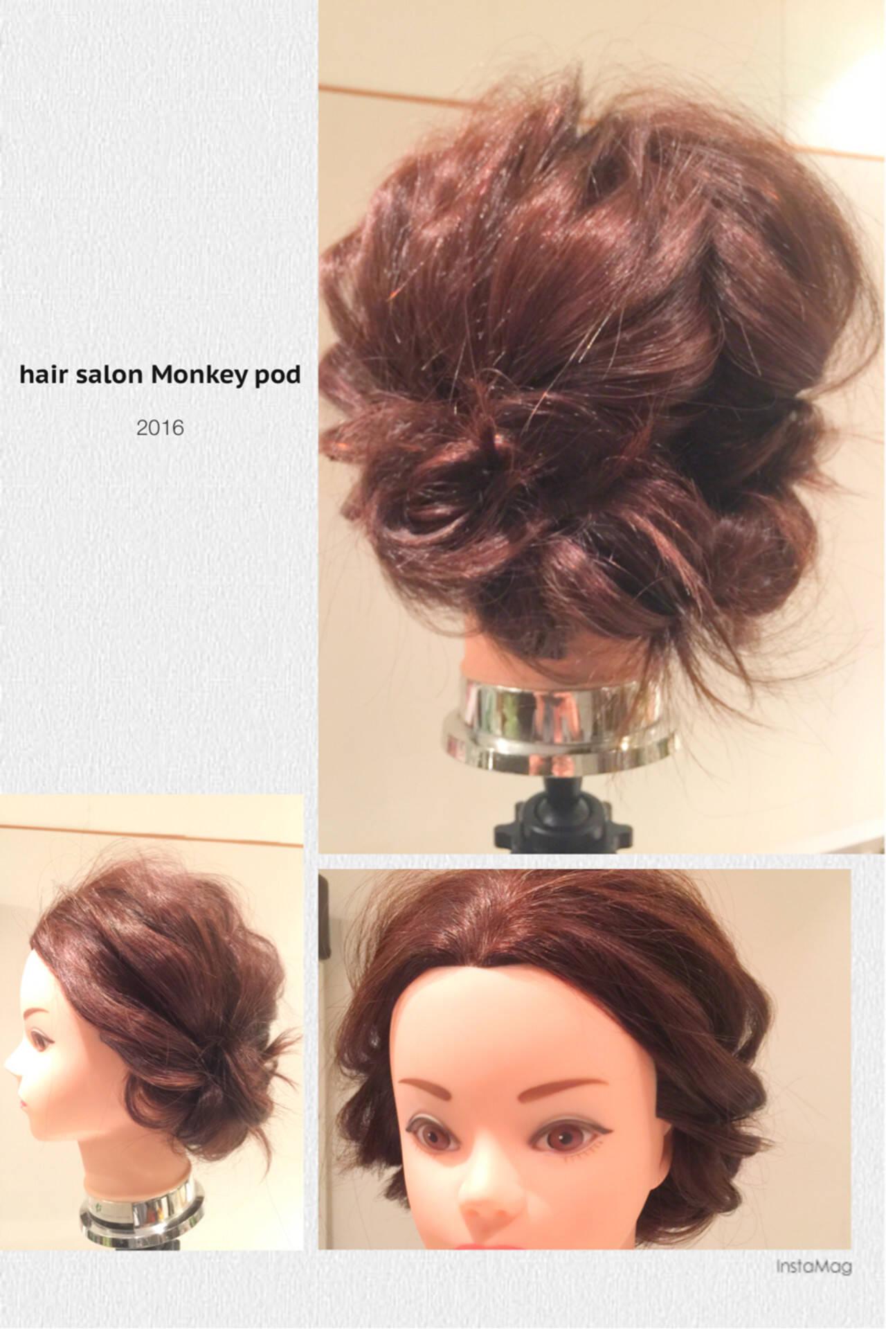 結婚式 ヘアアレンジ ロング 簡単ヘアアレンジヘアスタイルや髪型の写真・画像