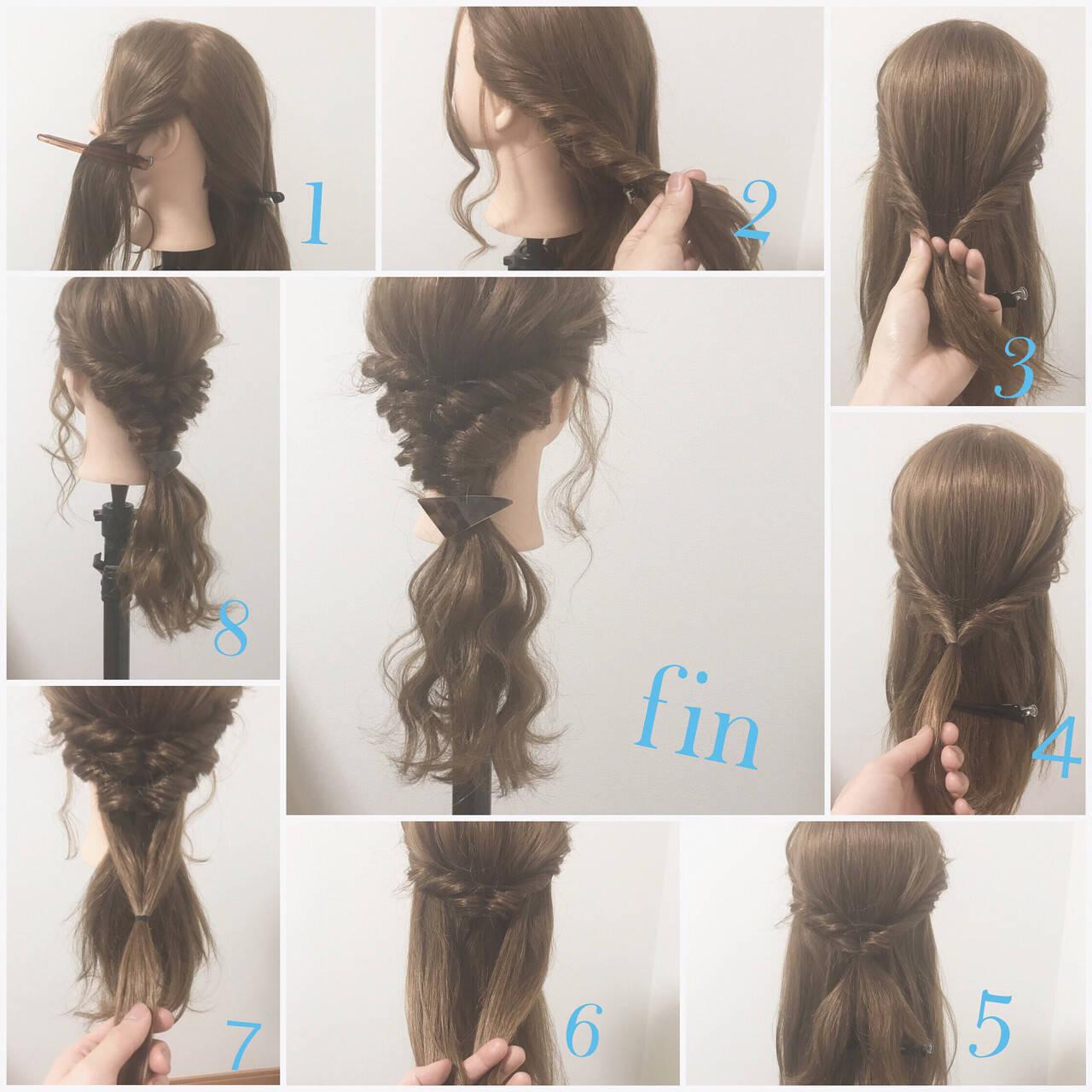 ショート ハーフアップ ロング ヘアアレンジヘアスタイルや髪型の写真・画像