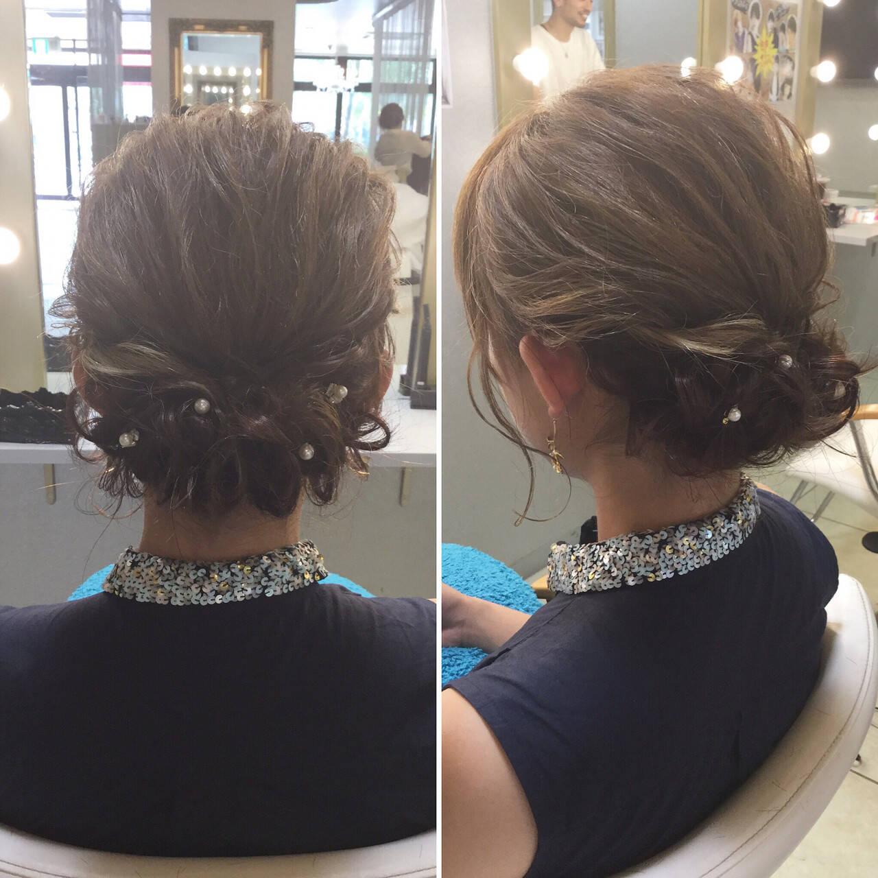 結婚式 上品 ボブ 愛されヘアスタイルや髪型の写真・画像