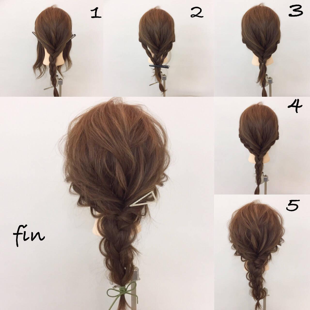 三つ編み ヘアアレンジ 編み込み 大人女子ヘアスタイルや髪型の写真・画像