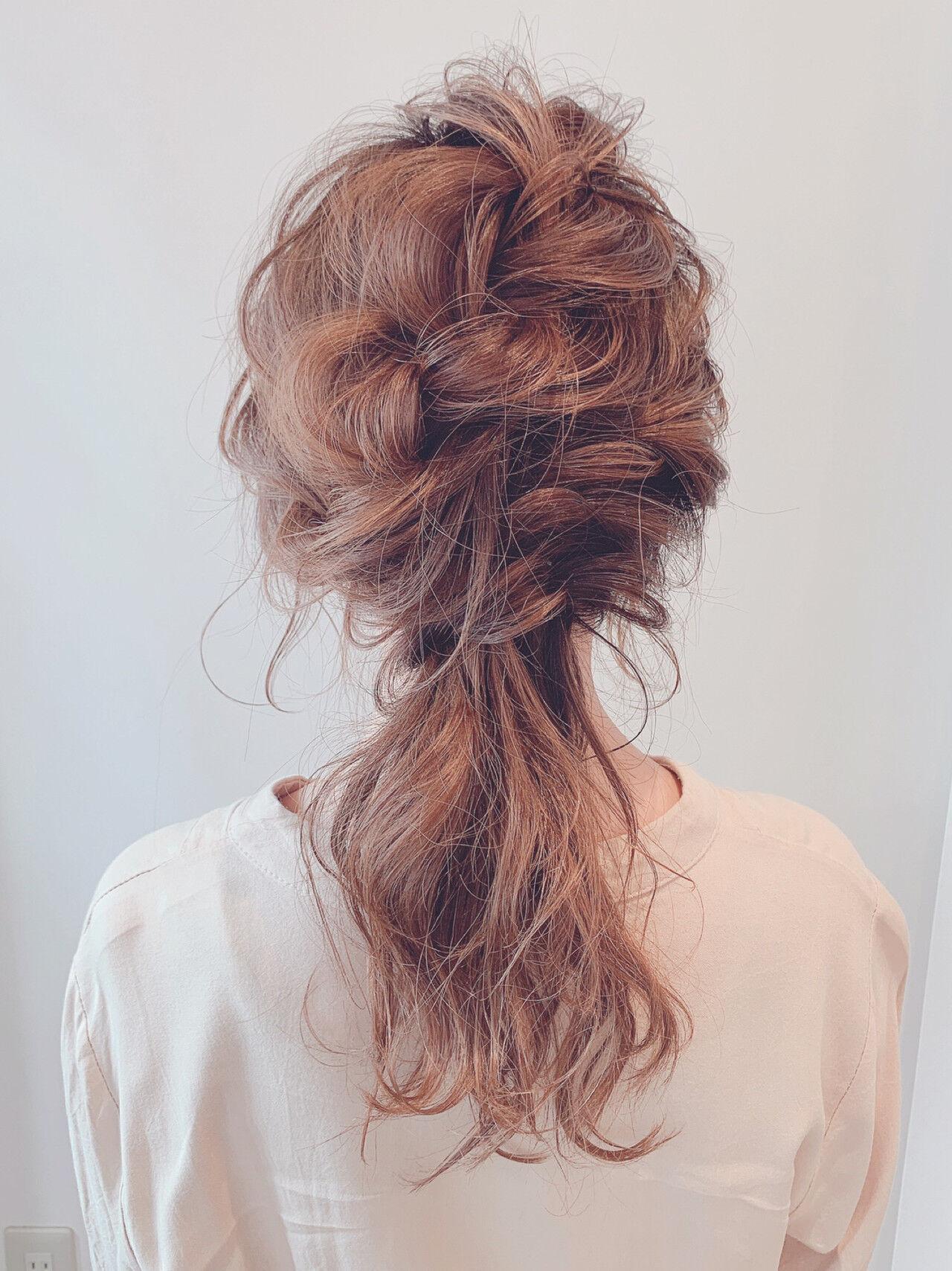 フェミニン ふんわり 結婚式ヘアアレンジ ヘアアレンジヘアスタイルや髪型の写真・画像
