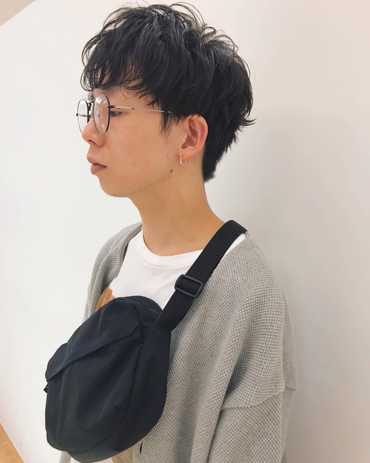 メンズヘア ショート メンズマッシュ ナチュラルヘアスタイルや髪型の写真・画像