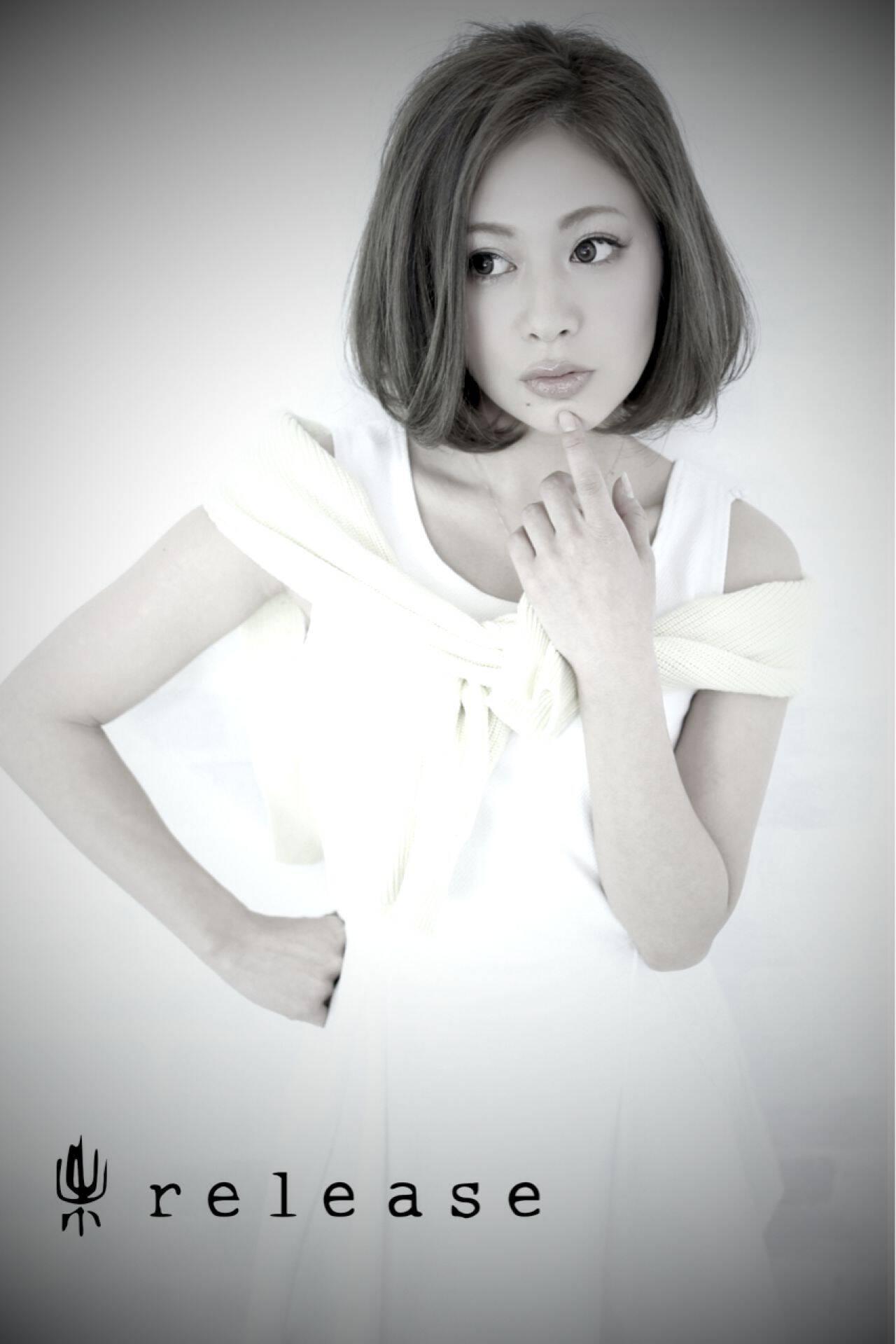 かわいい アンニュイ かっこいい ボブヘアスタイルや髪型の写真・画像