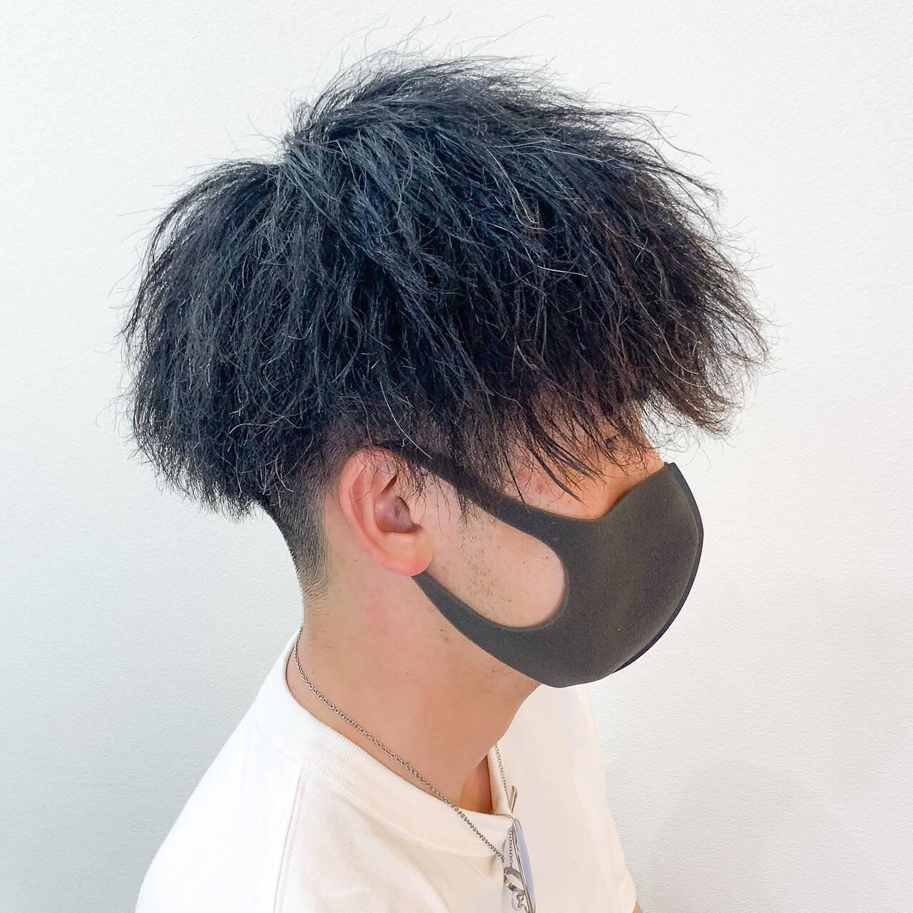 スパイラルパーマ メンズカット メンズ ストリートヘアスタイルや髪型の写真・画像