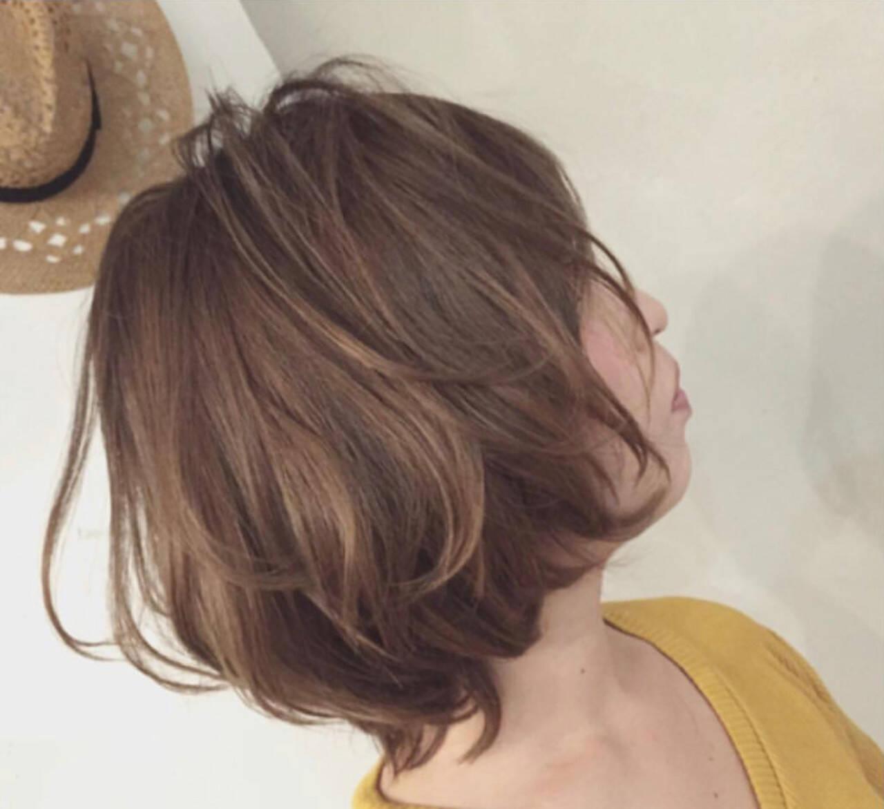 ボブ ママヘア ガーリー ボブヘアスタイルや髪型の写真・画像
