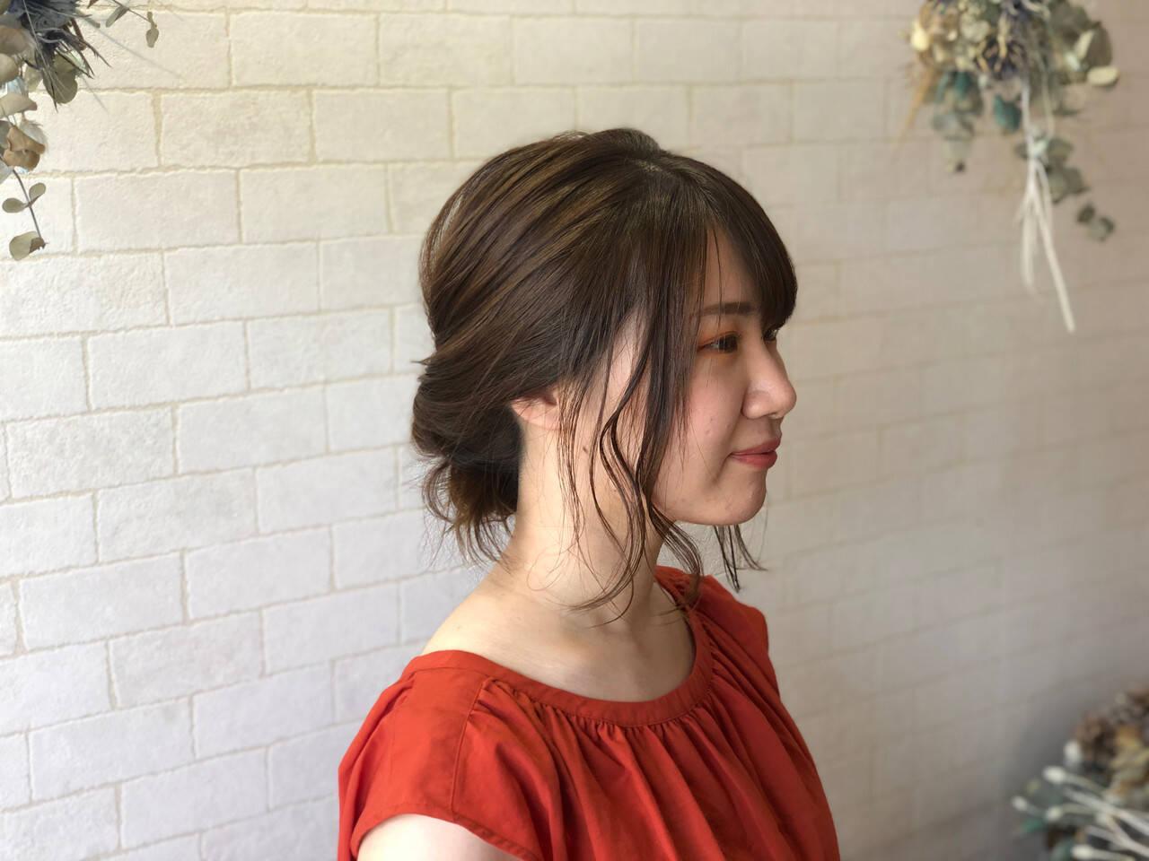 髪質改善カラー ミディアム フェミニン 髪質改善ヘアスタイルや髪型の写真・画像