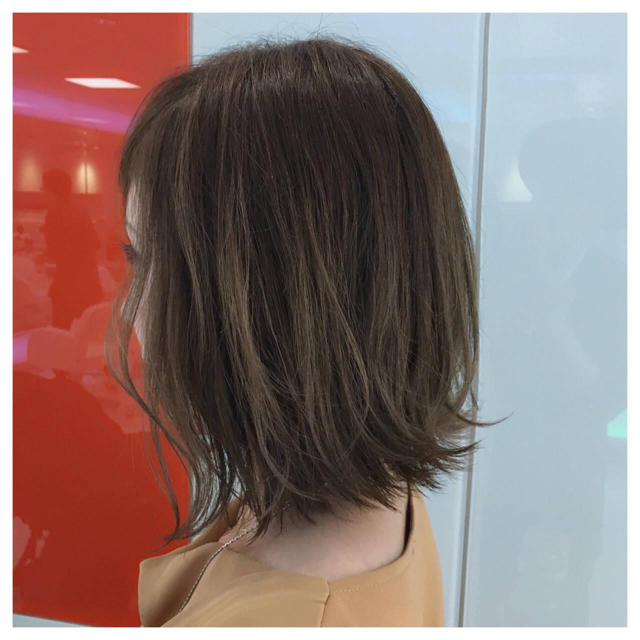 グラデーションカラー 外国人風カラー ボブ グレージュヘアスタイルや髪型の写真・画像