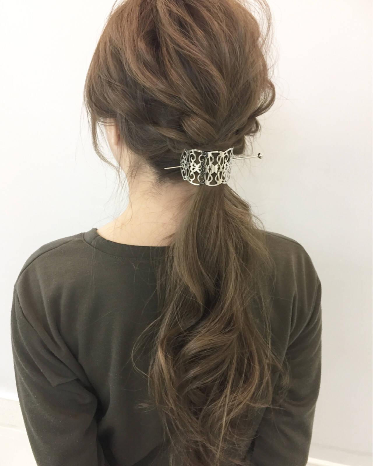 ポニーテール 編み込み ショート 大人女子ヘアスタイルや髪型の写真・画像