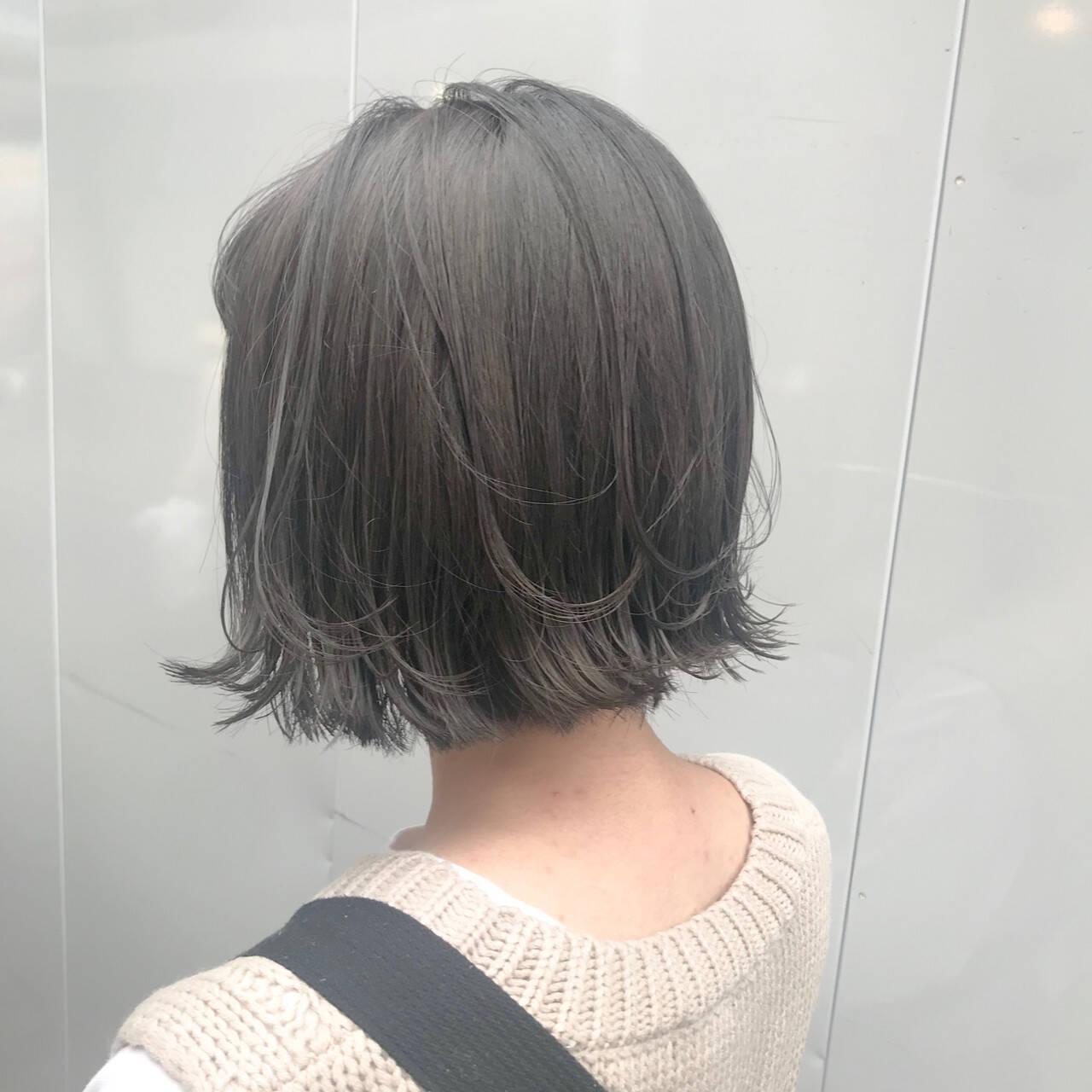ミニボブ ショートヘア ガーリー ショートボブヘアスタイルや髪型の写真・画像