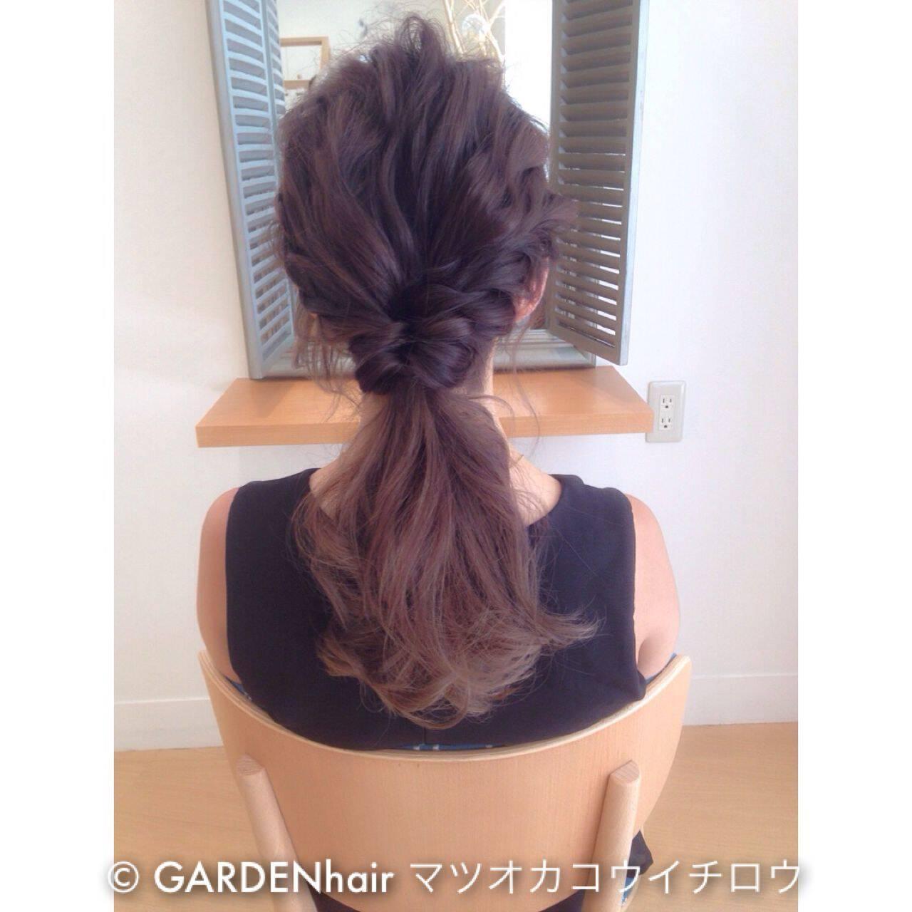 ナチュラル ポニーテール ショート ヘアアレンジヘアスタイルや髪型の写真・画像