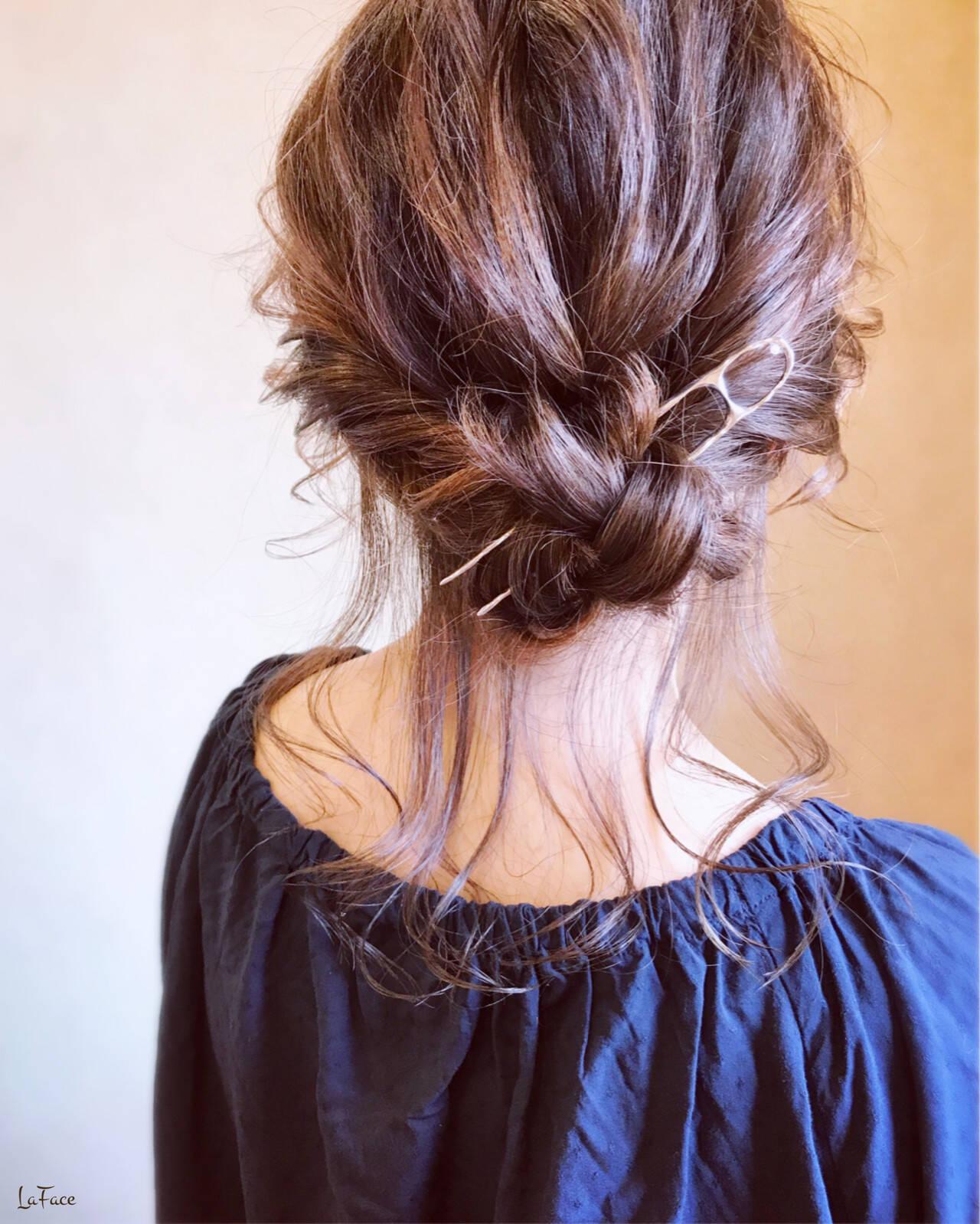 エレガント アンニュイほつれヘア ギブソンタック ヘアアレンジヘアスタイルや髪型の写真・画像