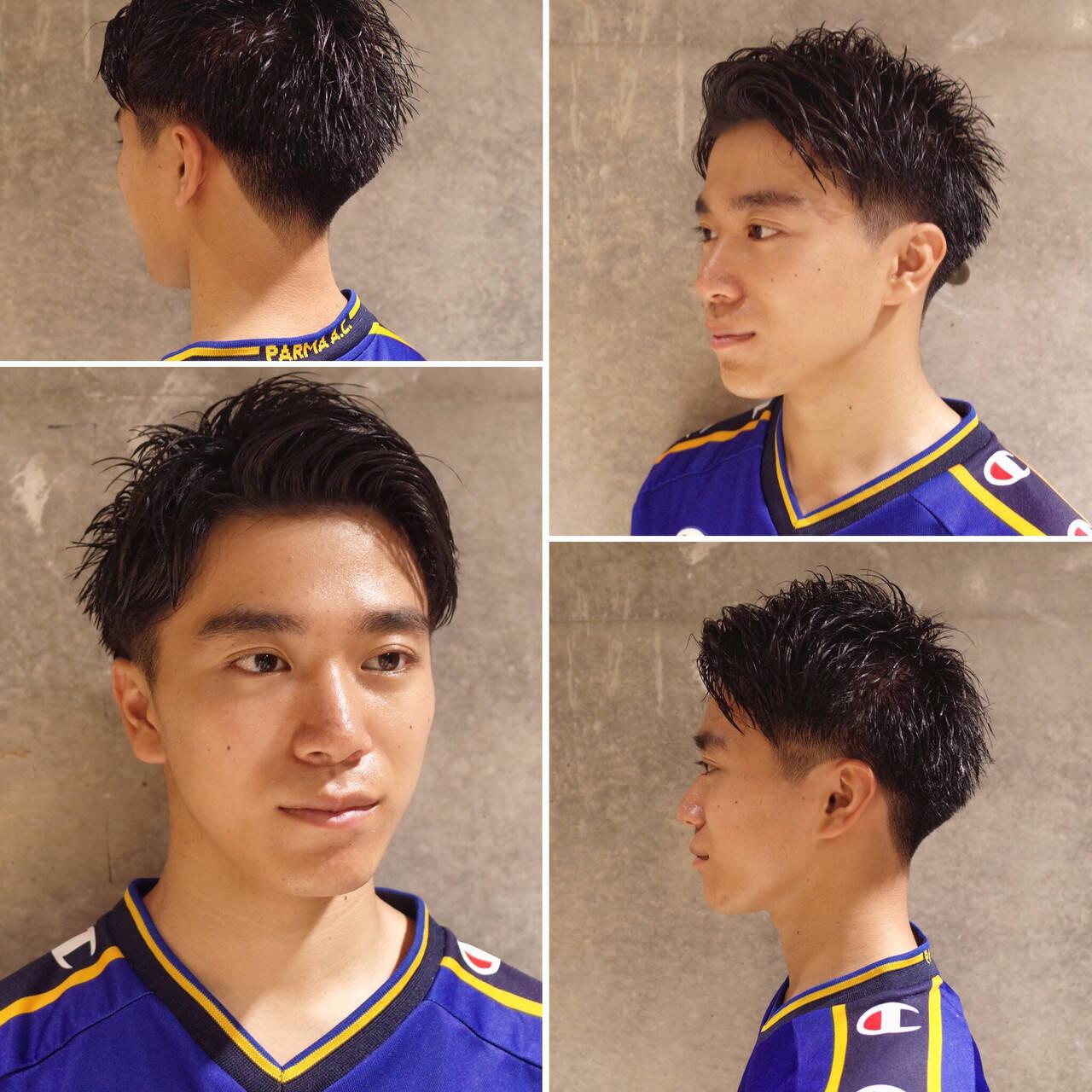 メンズショート ツーブロック ストリート メンズヘアヘアスタイルや髪型の写真・画像