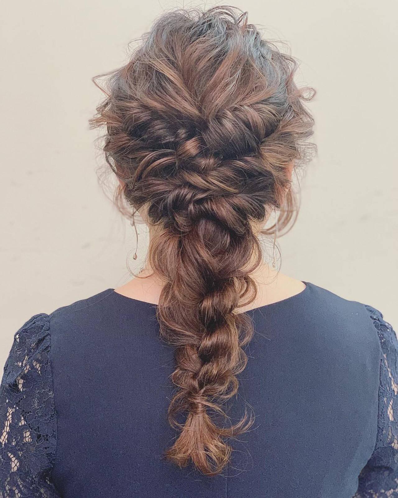 結婚式 ヘアアレンジ ナチュラル デートヘアスタイルや髪型の写真・画像