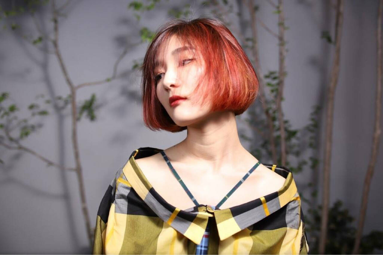 女子力 透明感 切りっぱなし モードヘアスタイルや髪型の写真・画像