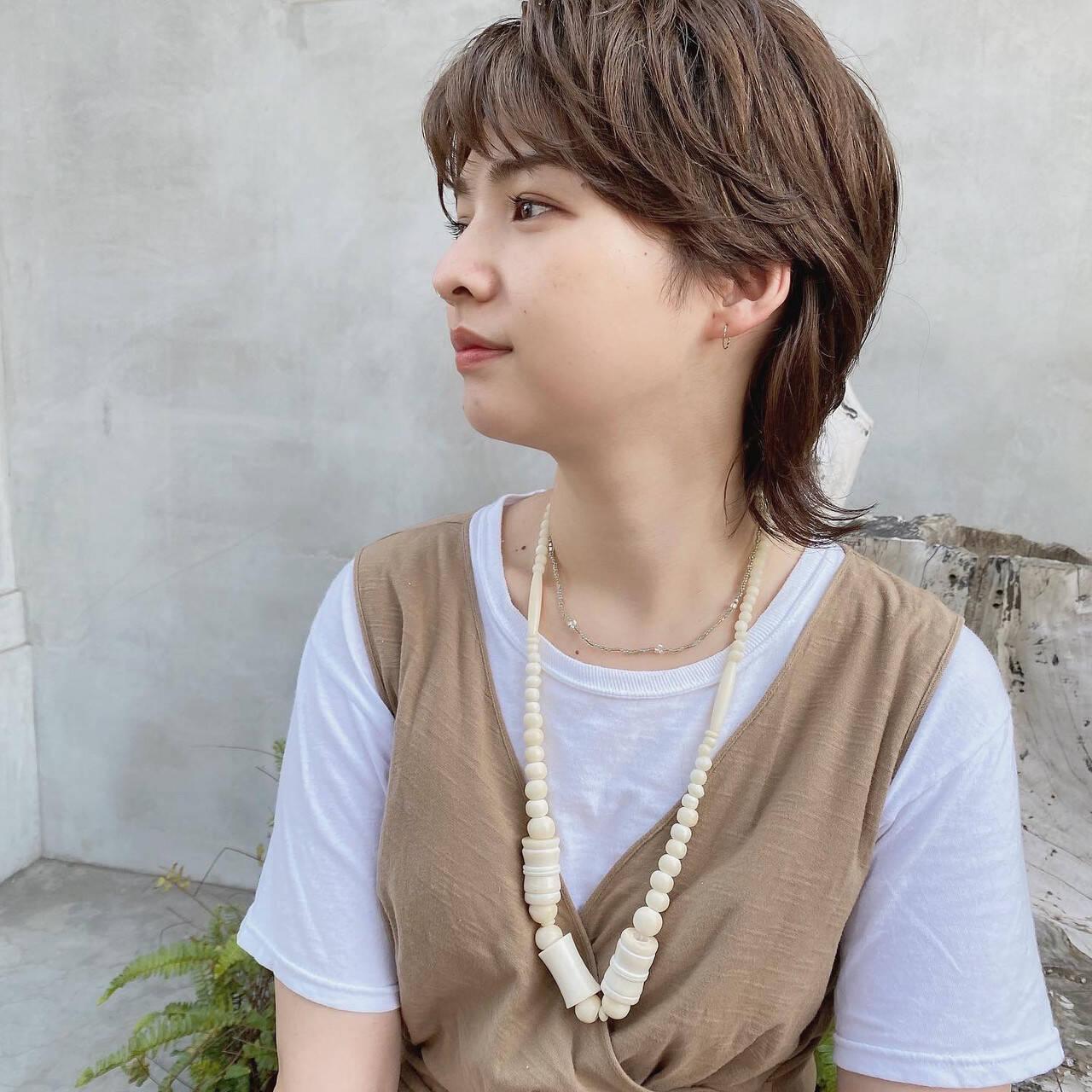 ショートヘア ストリート ショコラブラウン ウルフ女子ヘアスタイルや髪型の写真・画像