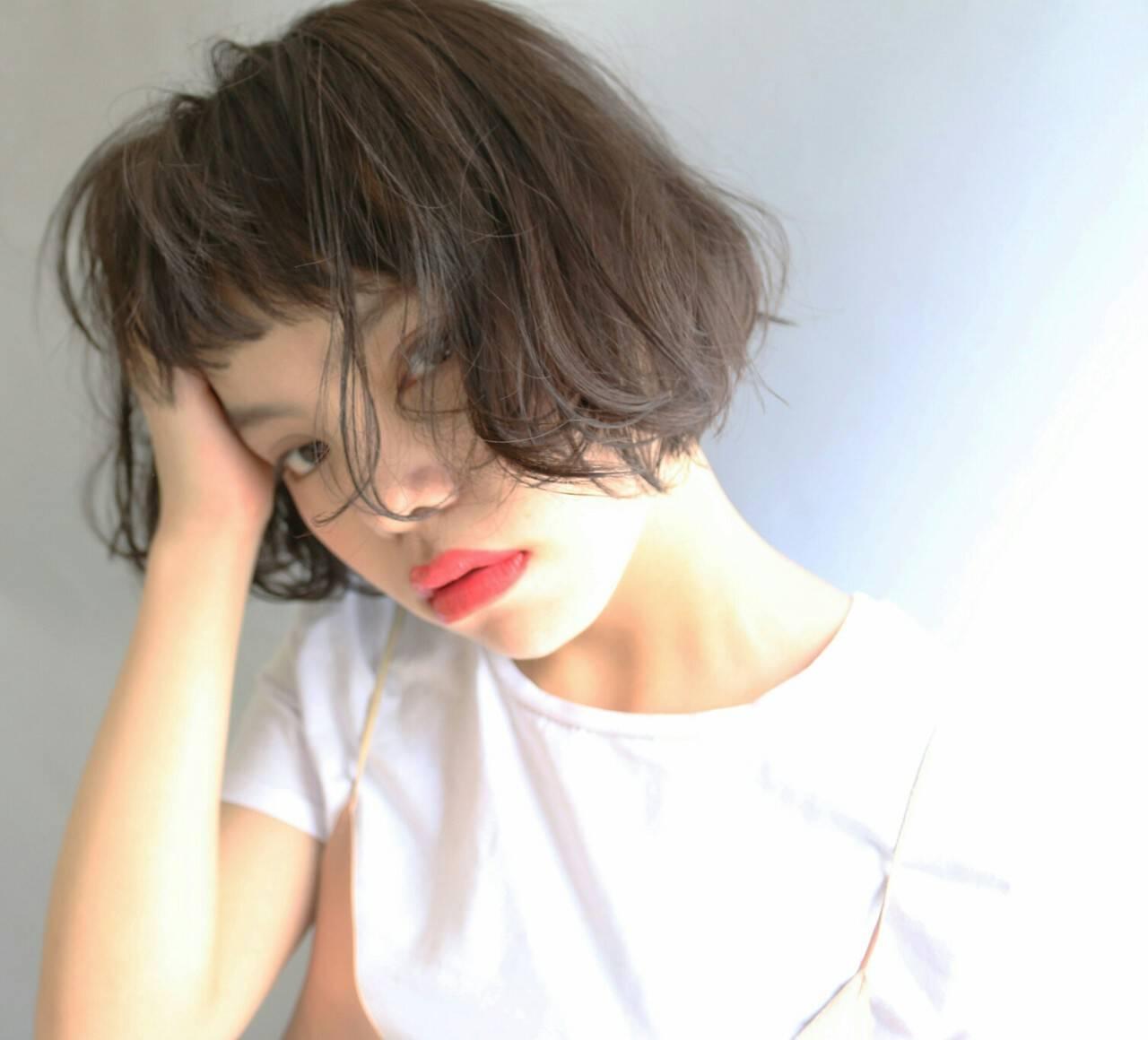 外国人風 ボブ ストリート アッシュヘアスタイルや髪型の写真・画像
