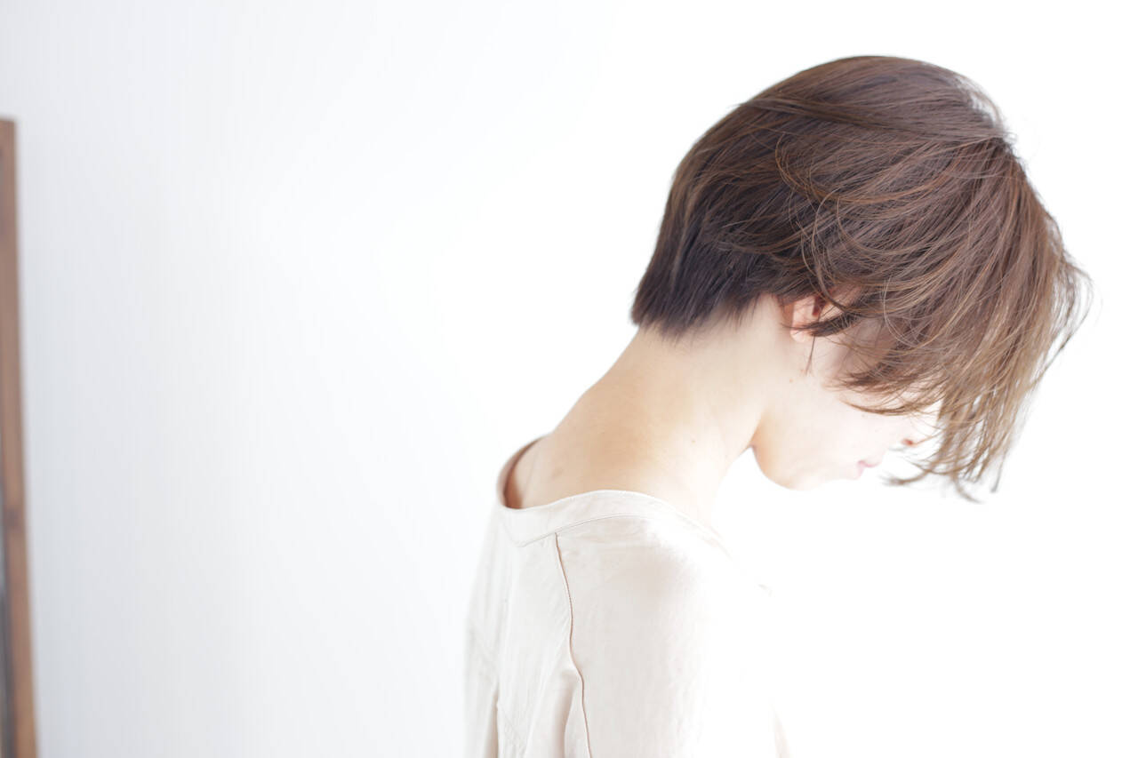 圧倒的透明感 ショートボブ ナチュラル ミニボブヘアスタイルや髪型の写真・画像