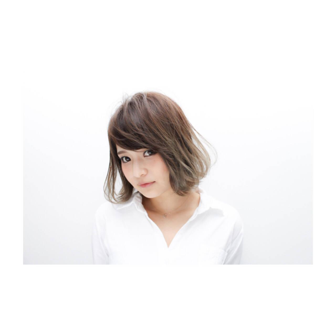 透明感 色気 ボブ フェミニンヘアスタイルや髪型の写真・画像