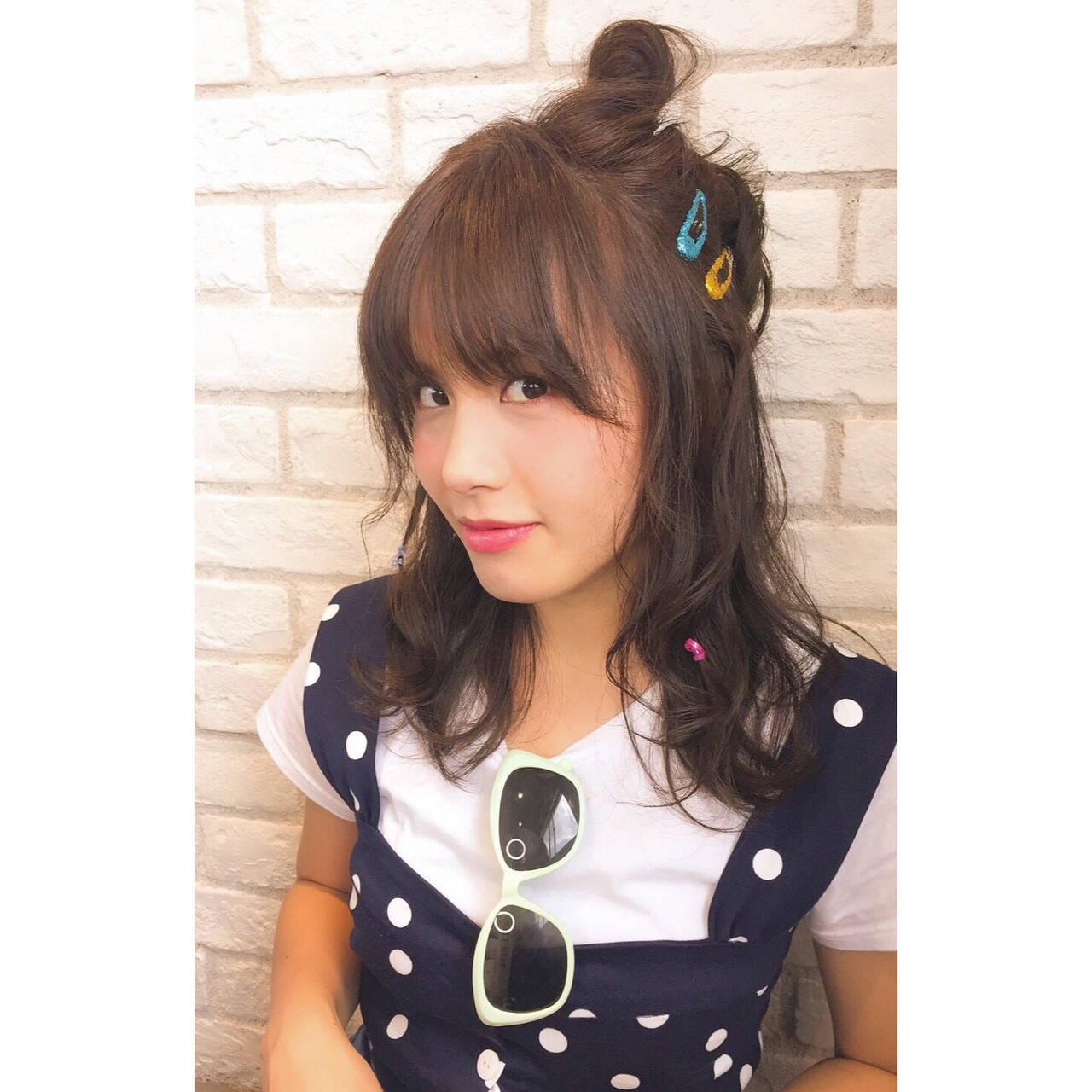 簡単ヘアアレンジ ヘアアレンジ 夏 ゆるふわヘアスタイルや髪型の写真・画像